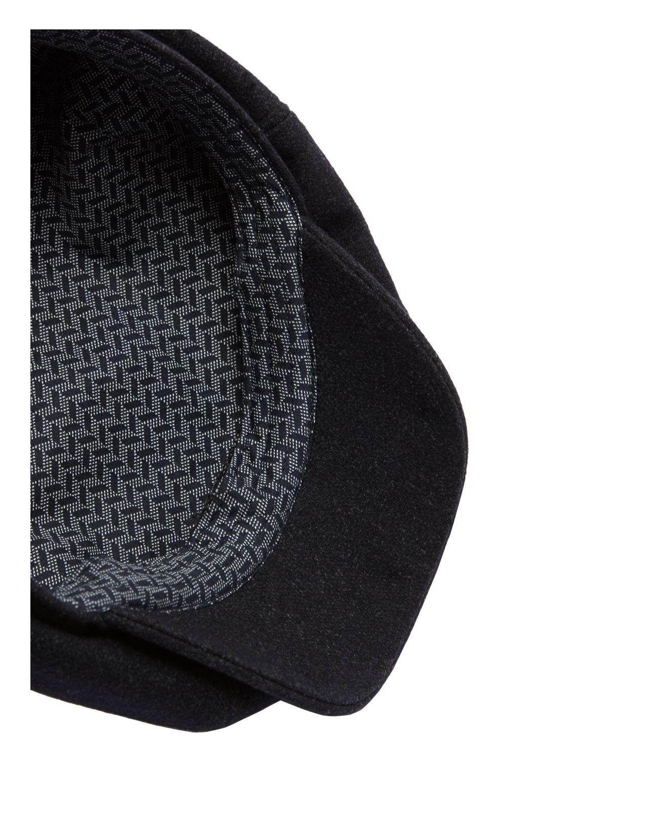 0612797f74c Lyst - Ted Baker Gladstn Semi Plain Baker Boy Cap in Blue for Men