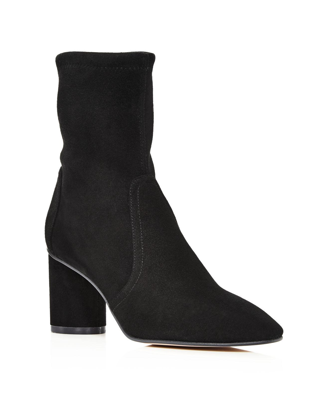 Stuart Weitzman Women's Margot Suede Block Heel Booties