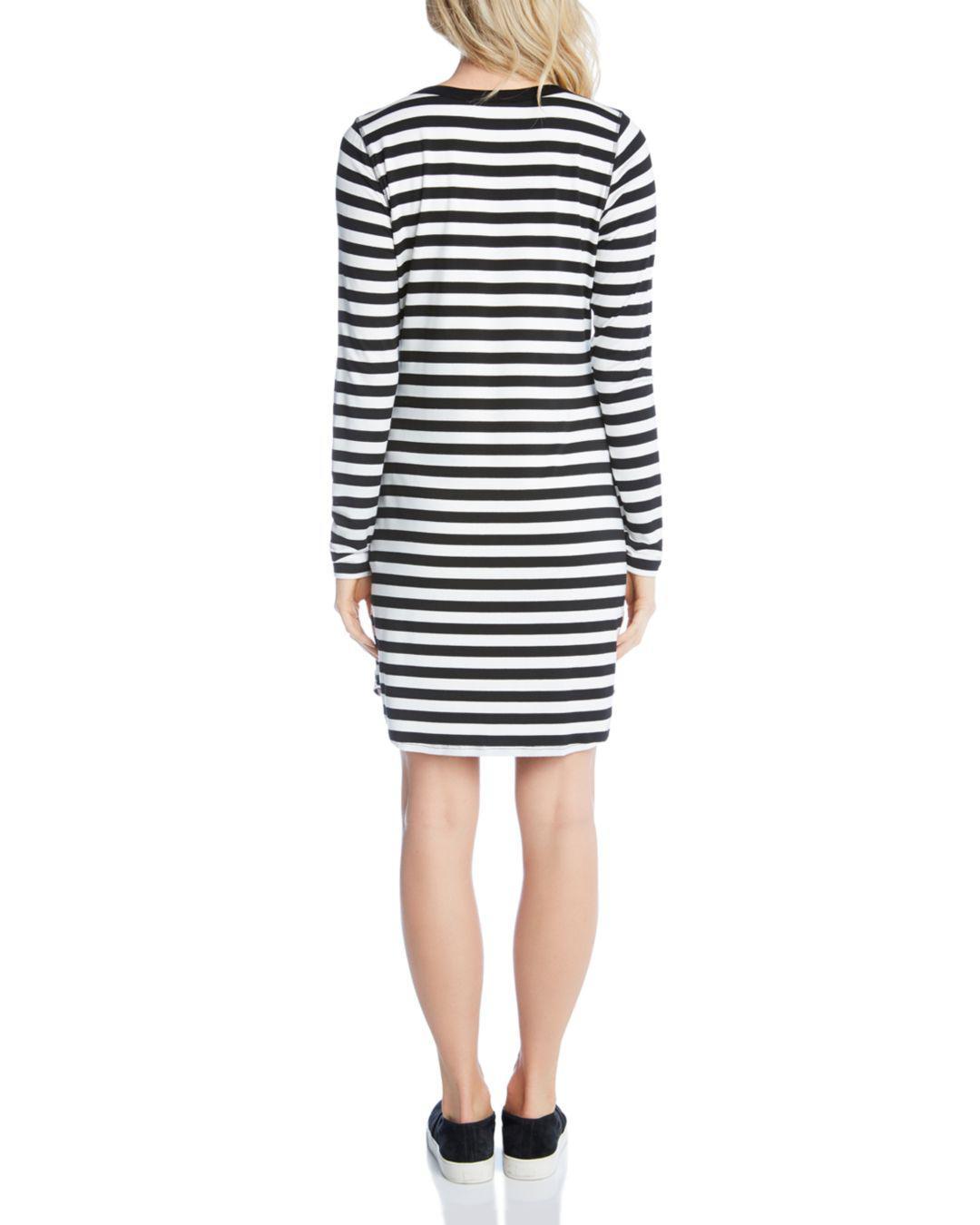 d62ace30964 Karen Kane - Black Striped T-shirt Dress - Lyst. View fullscreen