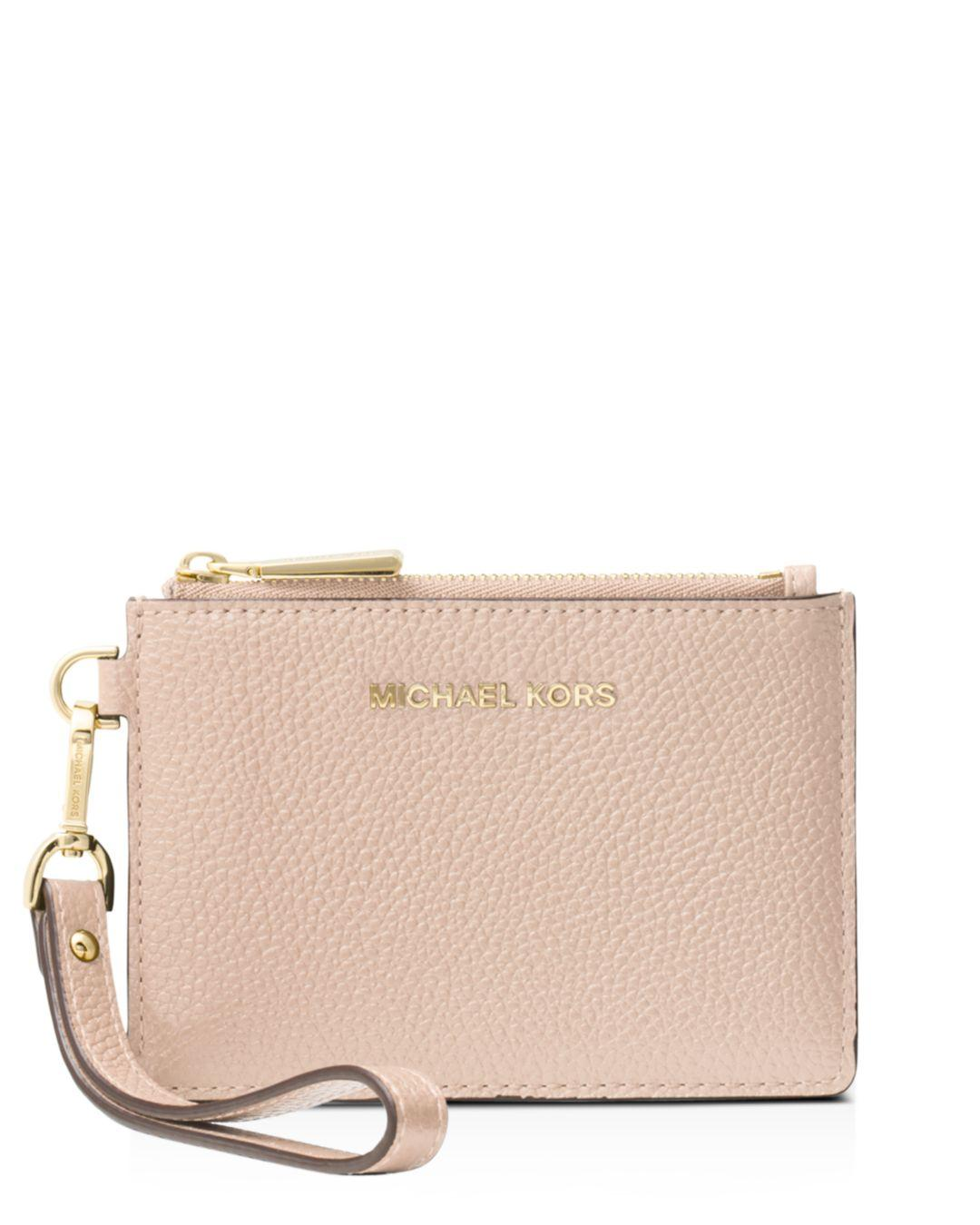 c2d7a4f2241d Michael Kors Mercer Small Leather Coin Purse in Pink - Lyst