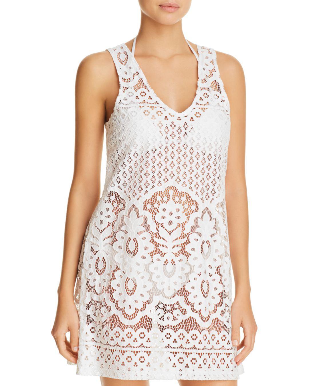 682d69b50f J Valdi Pina Colada Lace Dress Swim Cover-up in White - Lyst