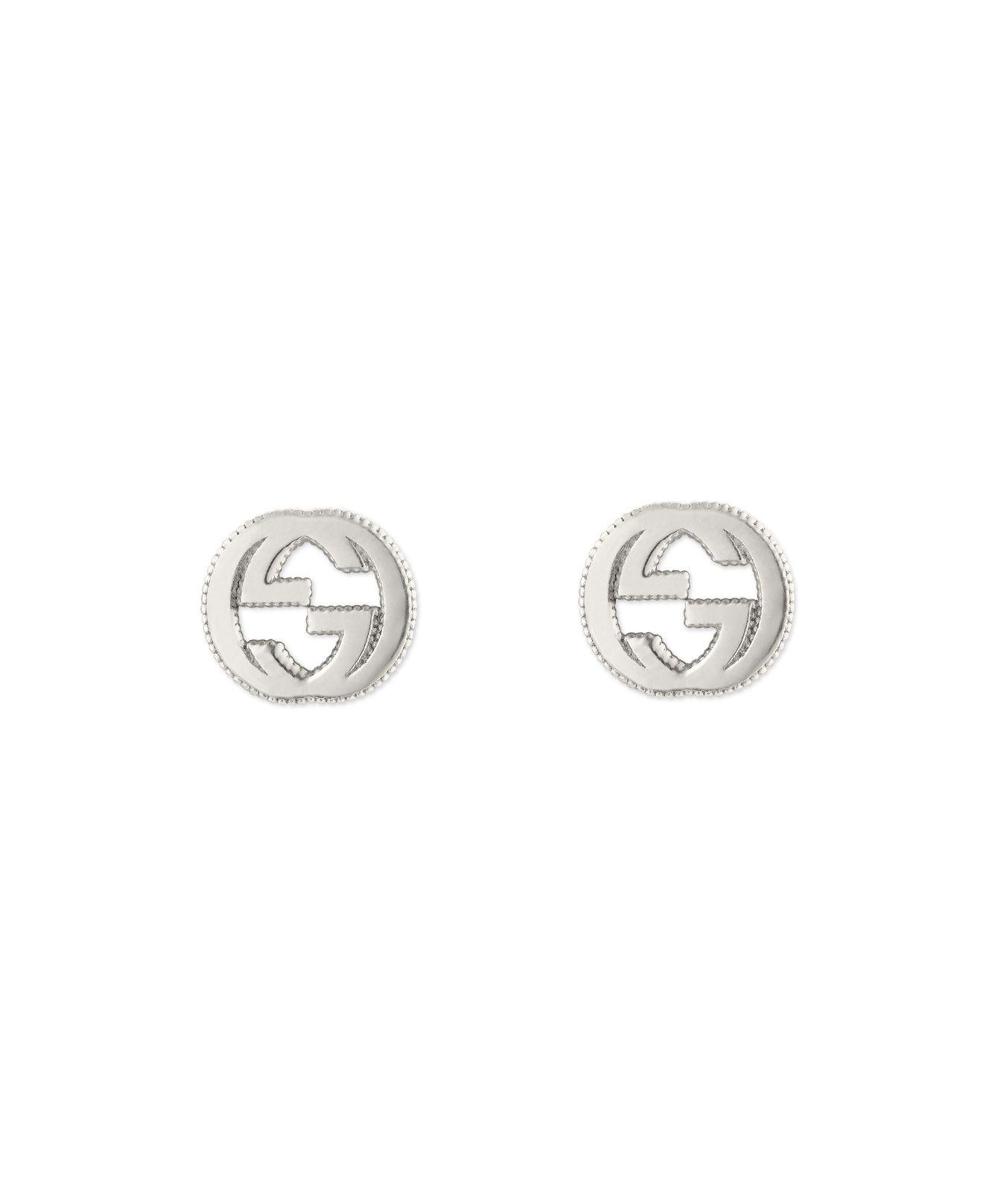 Details about  /Double GG Interlocking Woman Stud Ladies Earrings 925 Sterling Silver