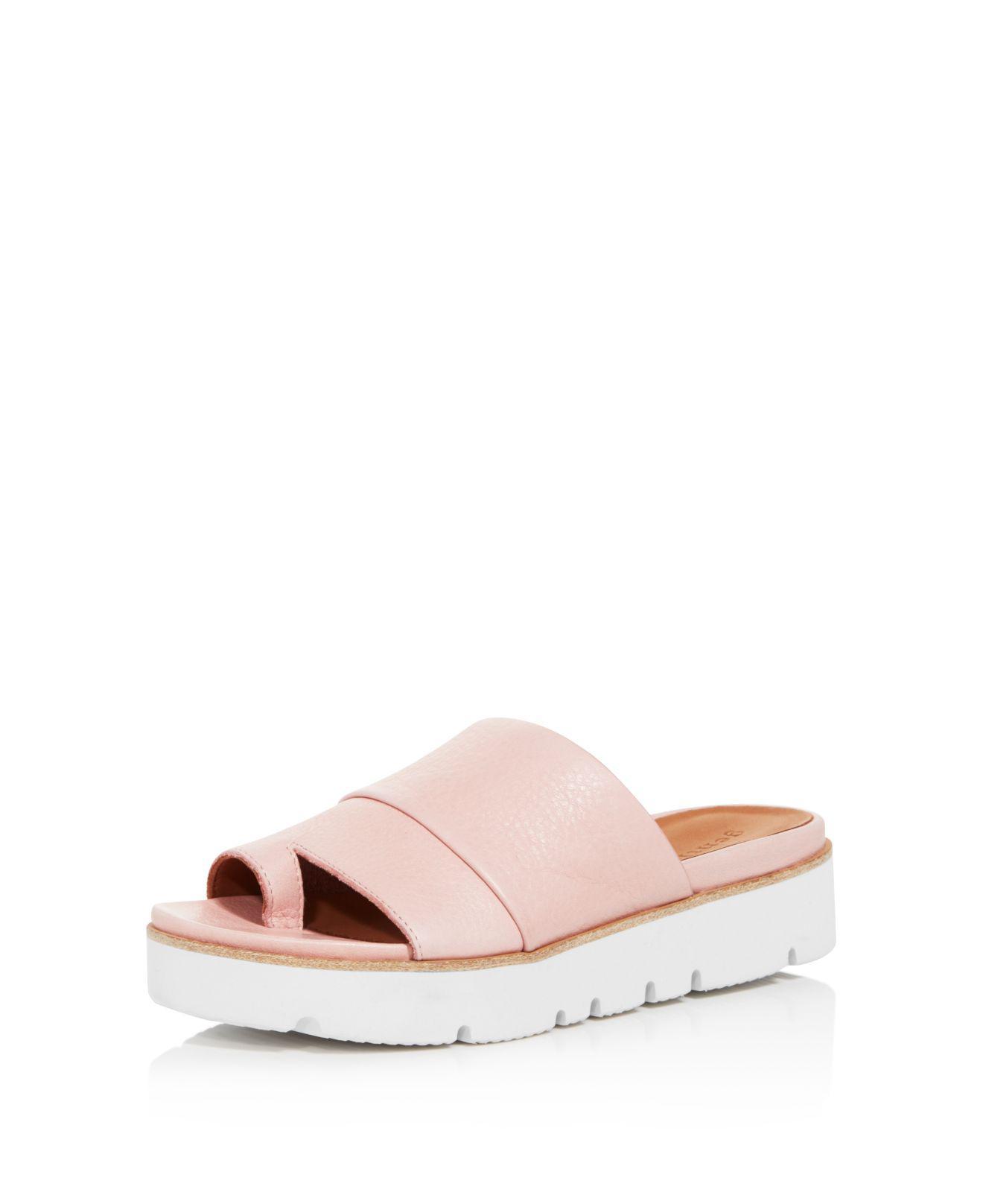 67f34c817f Lyst - Gentle Souls Women's Lavern Leather Platform Slide Sandals