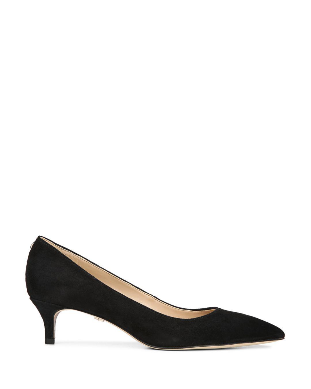 aac223965bef Lyst - Sam Edelman Women s Dori Pointed Toe Kitten Heel Pumps in Black -  Save 1%