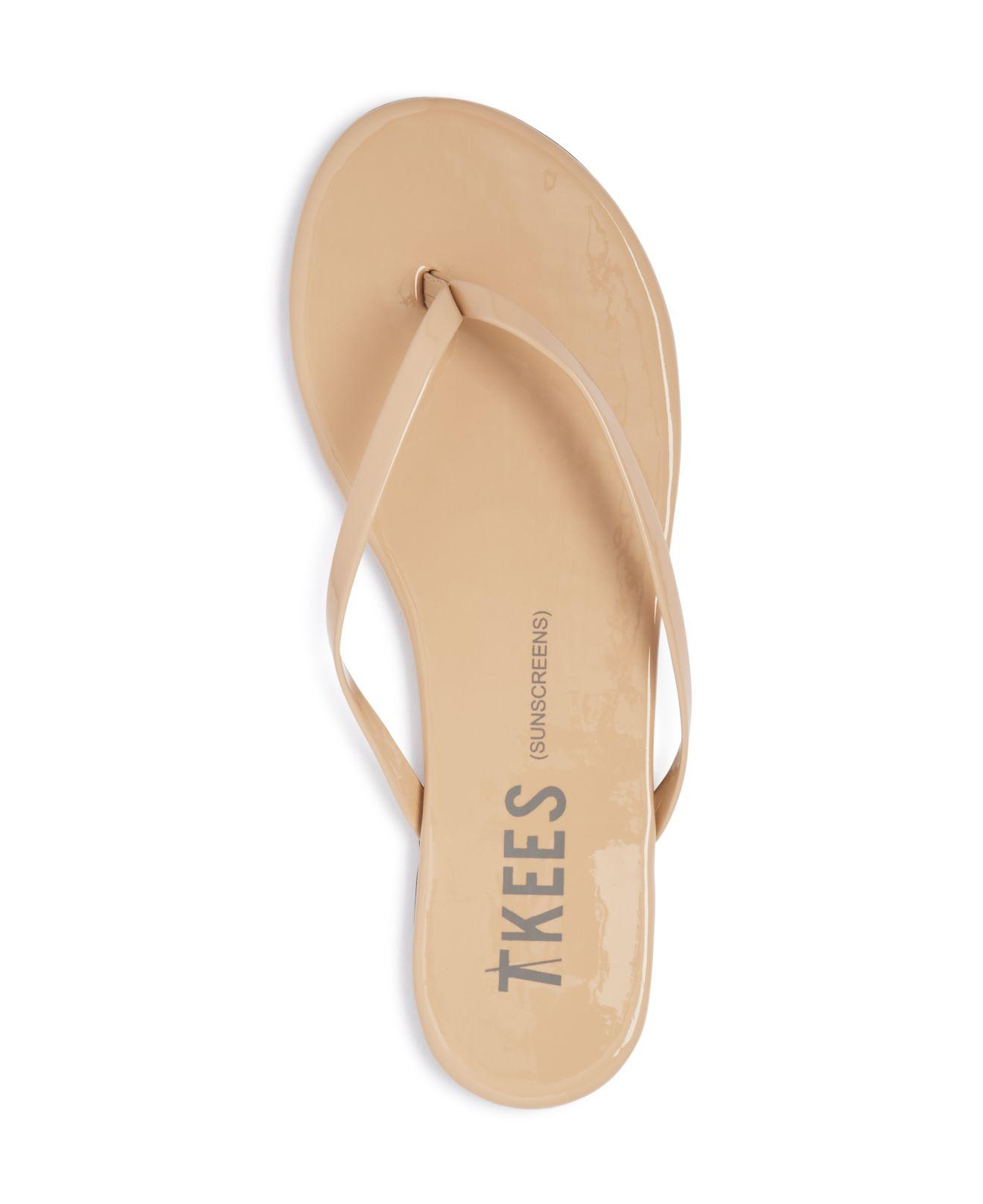 Tkees Patent Leather Flip-Flops In Natural - Lyst-3037