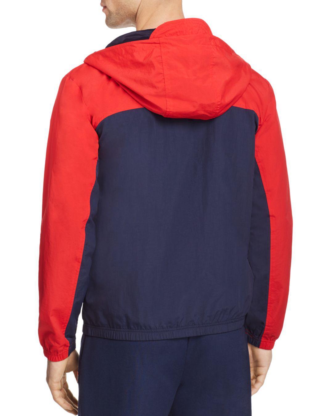 Fila Clipper Hooded Jacket in Red for Men