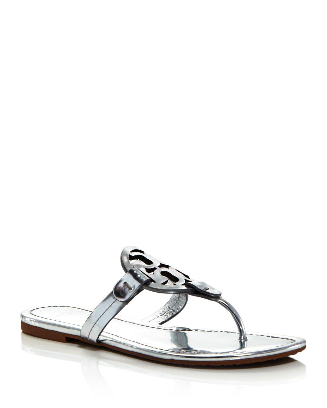 54f2863563904 Tory Burch - Metallic Women s Miller Leather Thong Sandals - Lyst. View  fullscreen