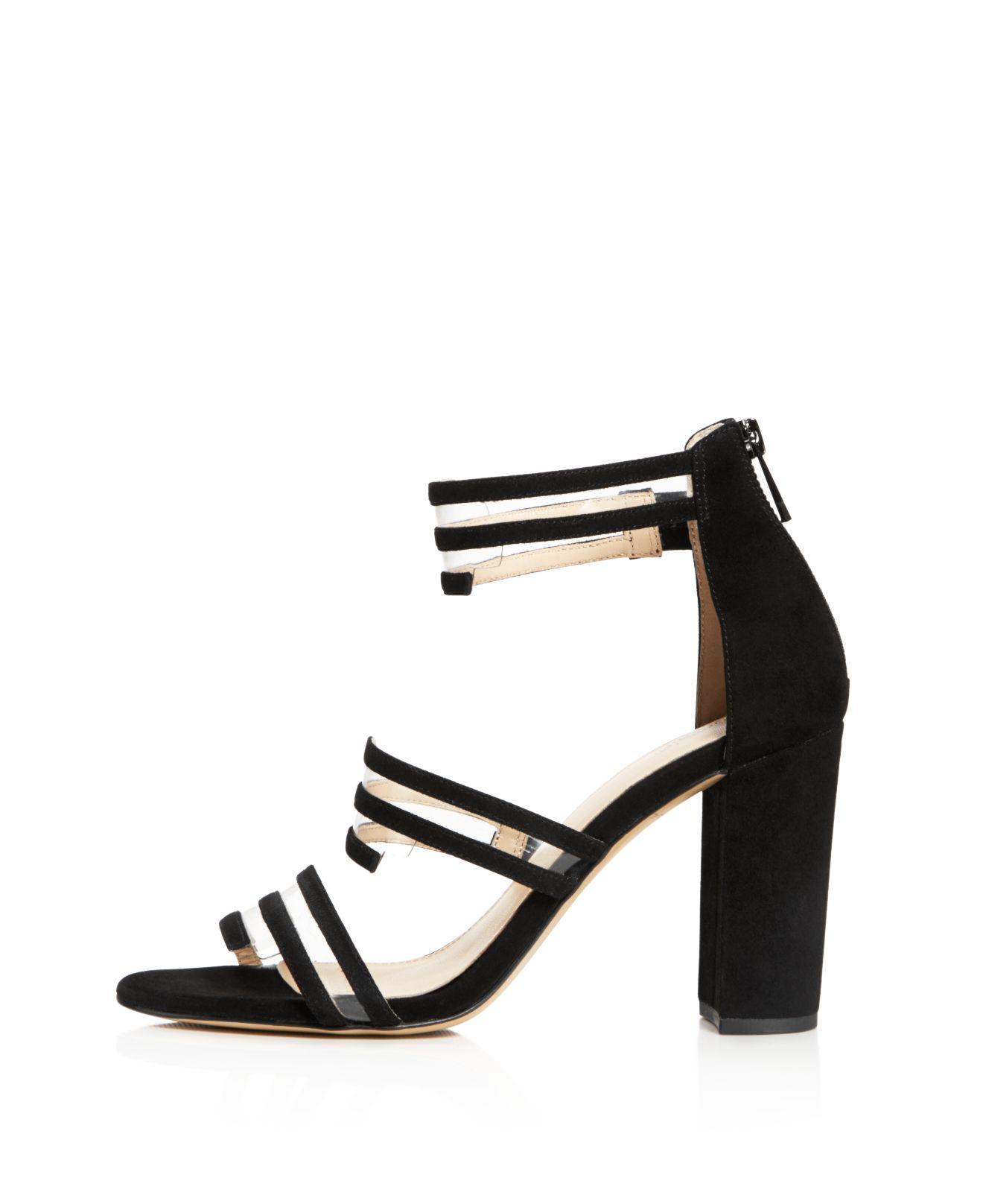 Botkier Women's Grecia Suede Illusion Strap High-Heel Sandals 9vEyoPkXmt