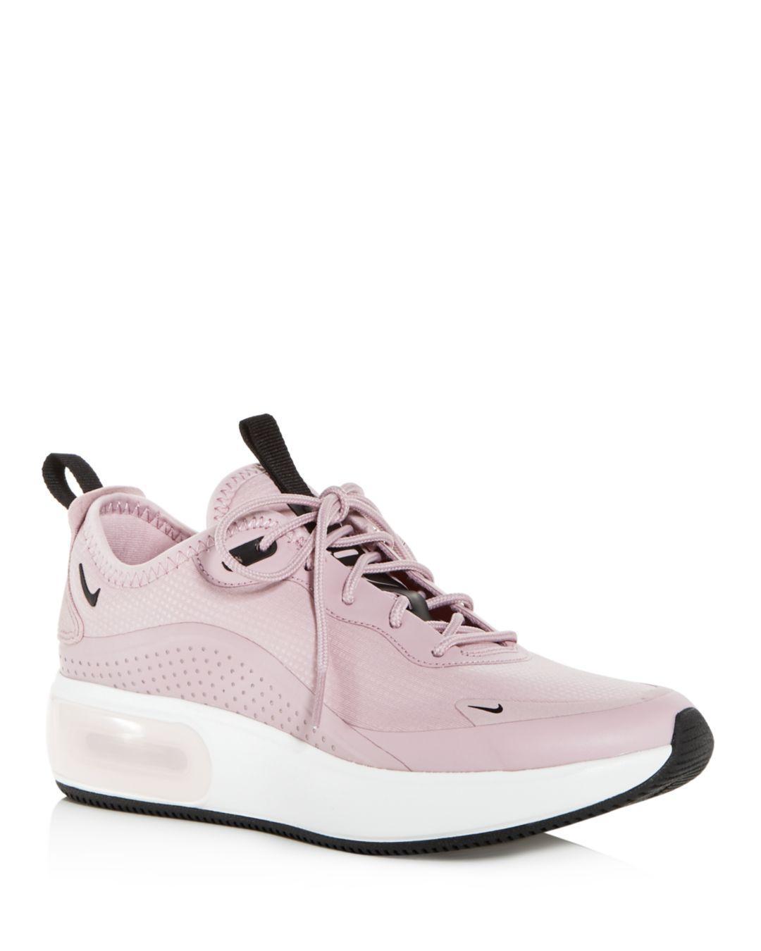 buy popular 4a407 d65f5 nike air max dia black and white Lyst - Nike W Air Max Dia Plum Chalk