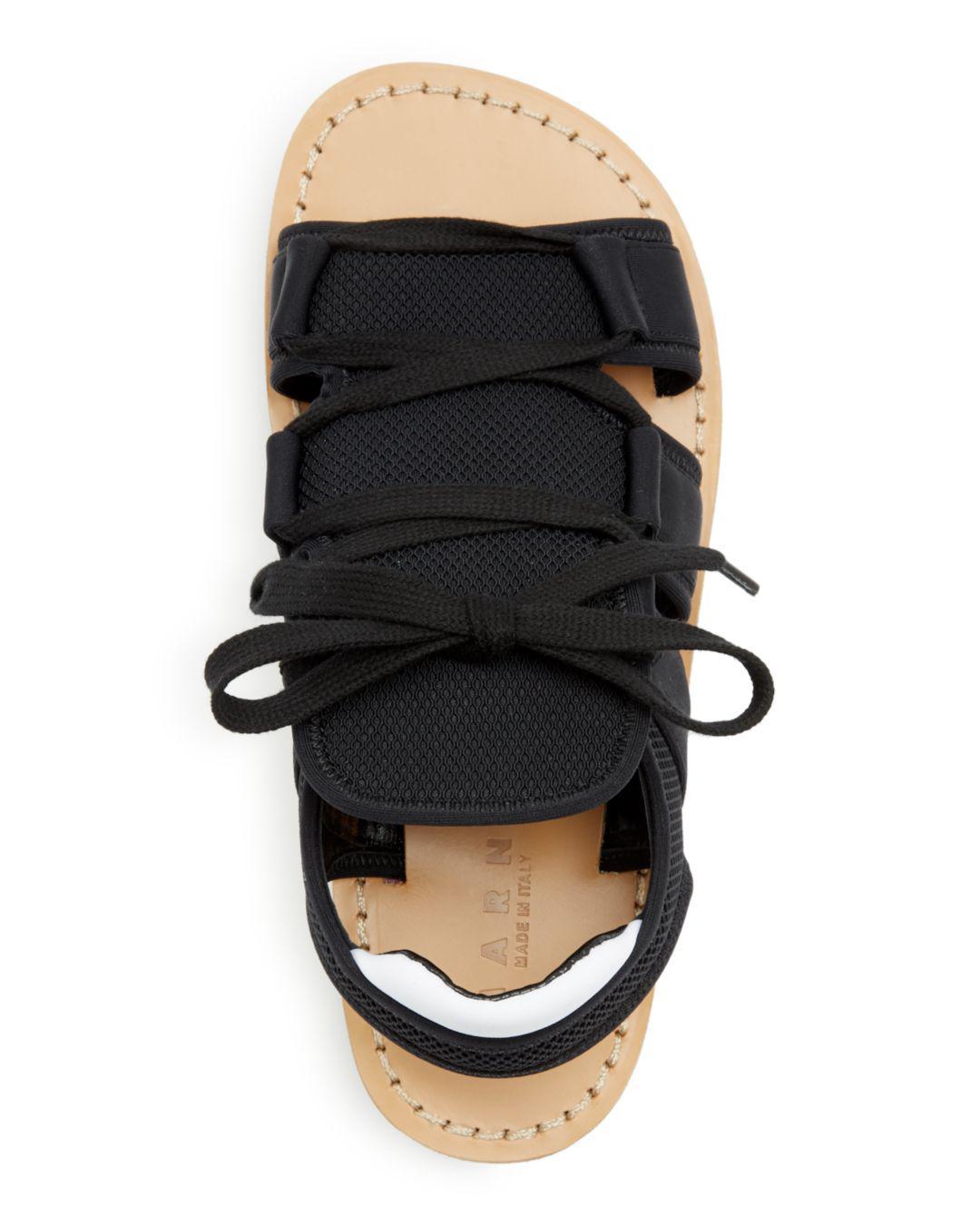 8ffe1fe0146 Lyst - Marni Color-block Platform Wedge Sandals in Black