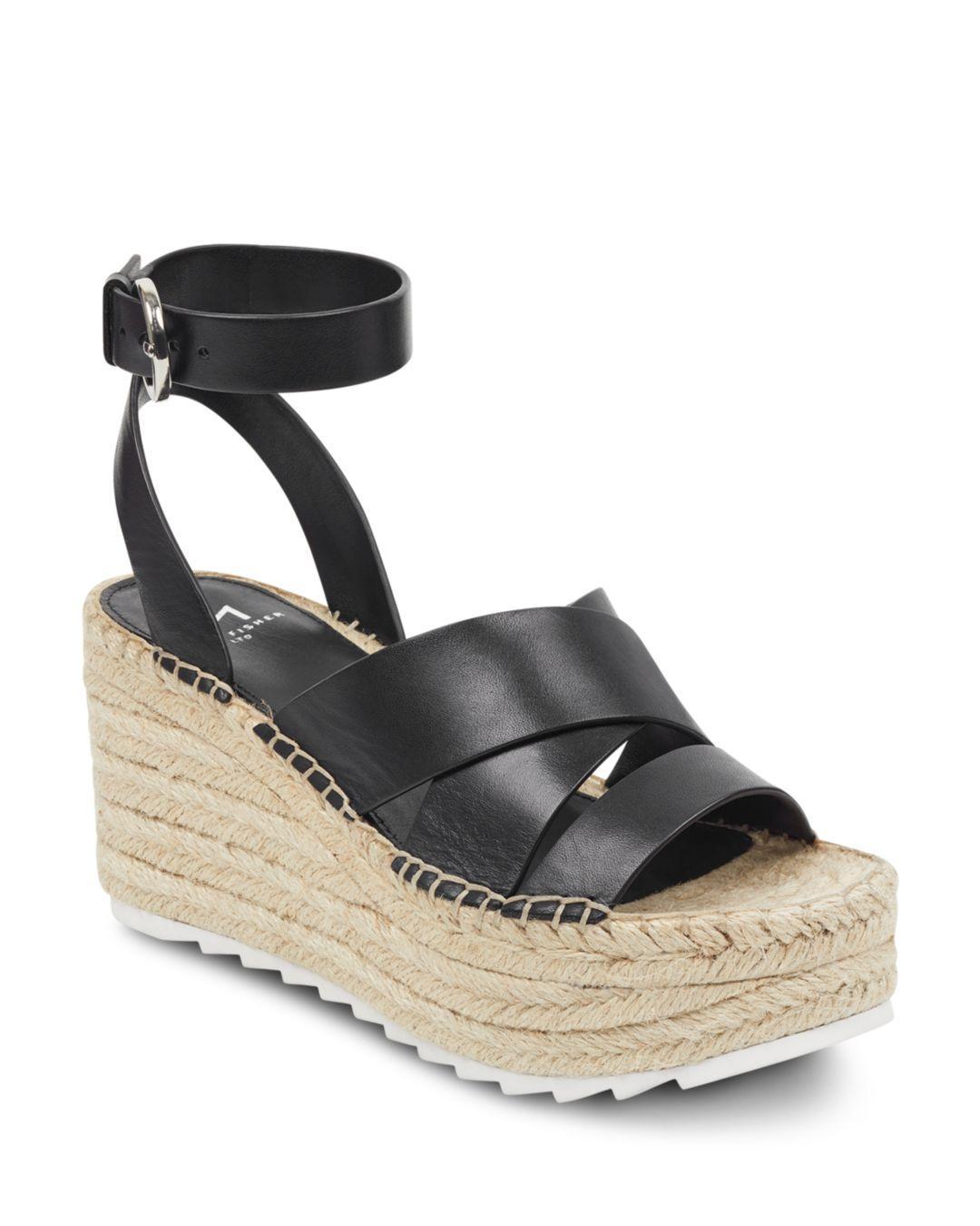 e9a623671fe Black Women's Raffa Espadrille Platform Wedge Sandals
