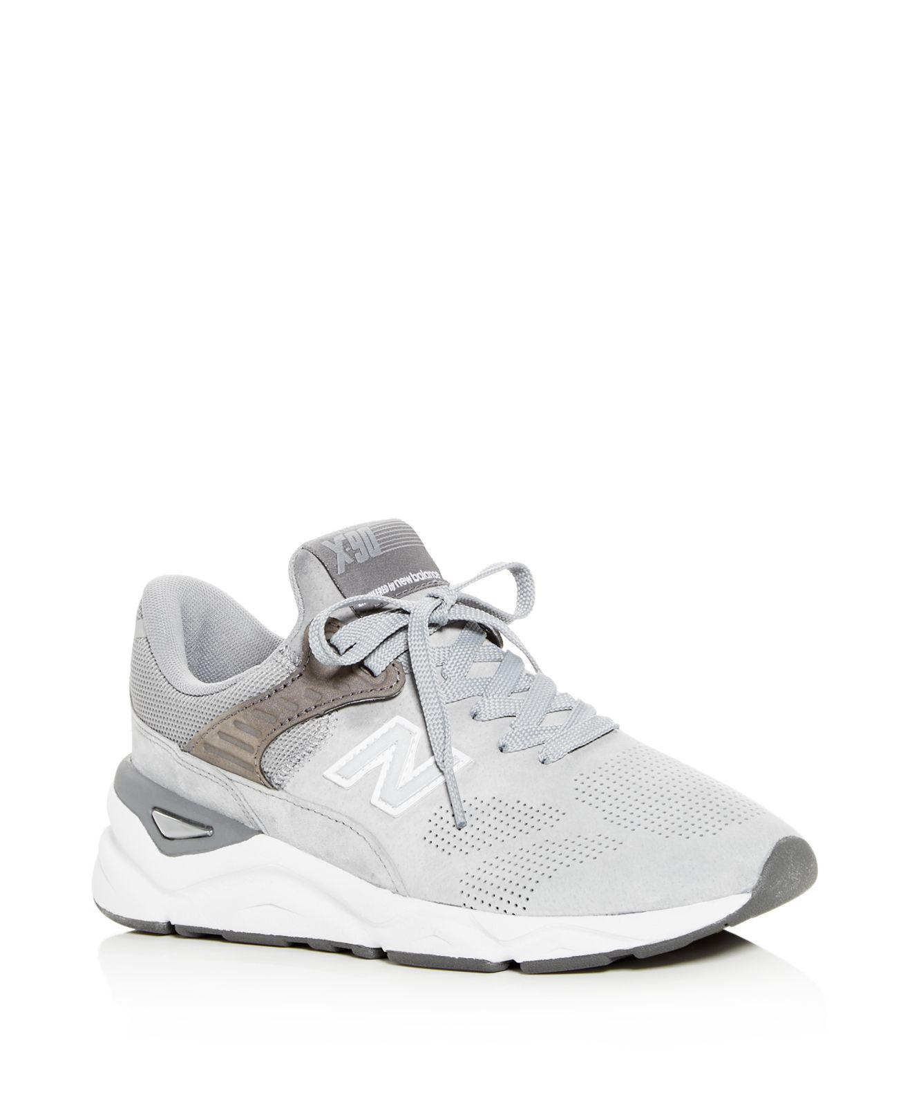 New Balance Women's X90 Perforated Suede Lace Up Sneakers cROC73SCT