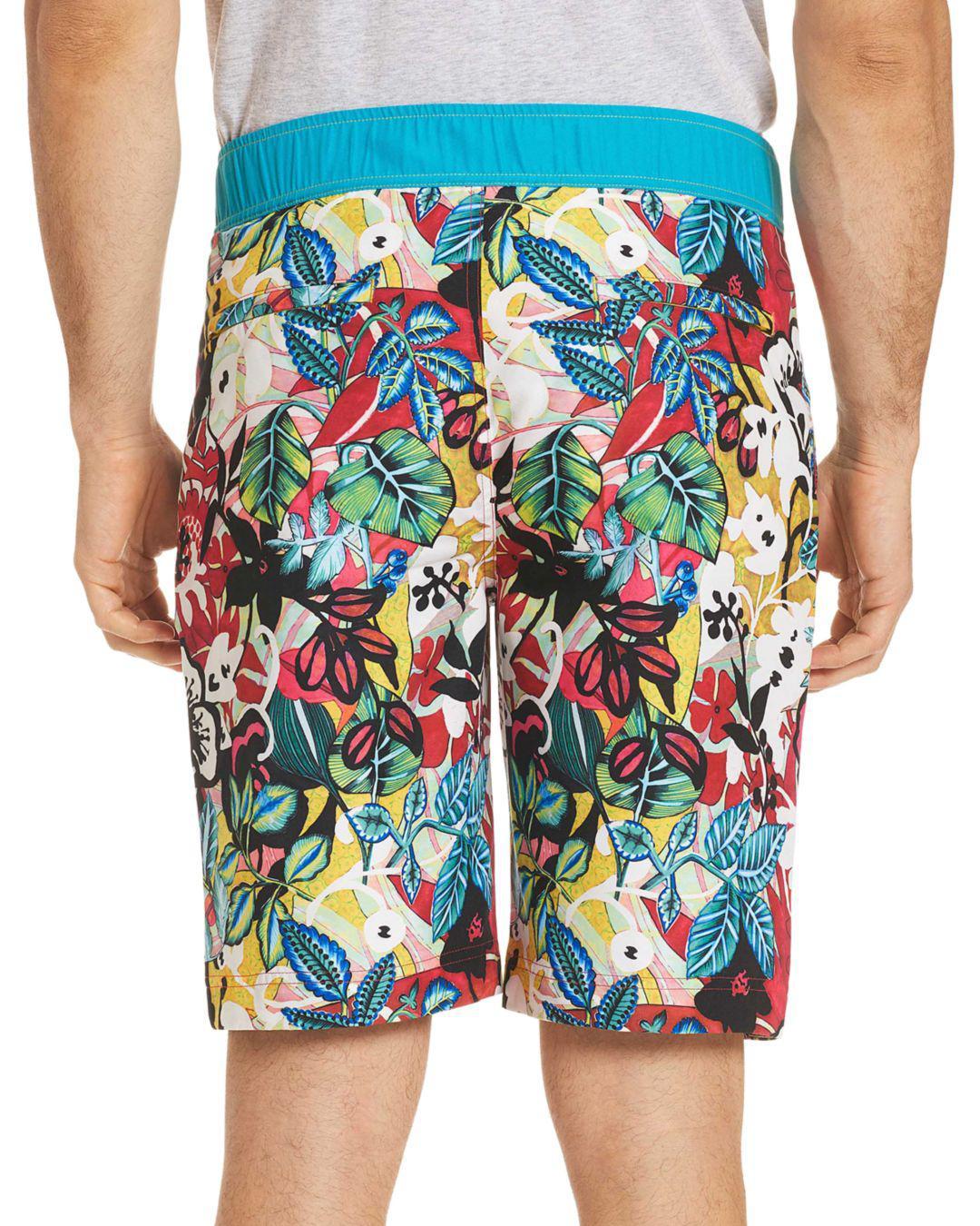 e9bb064a3a Robert Graham - Blue Barbarito Floral Board Shorts for Men - Lyst. View  fullscreen