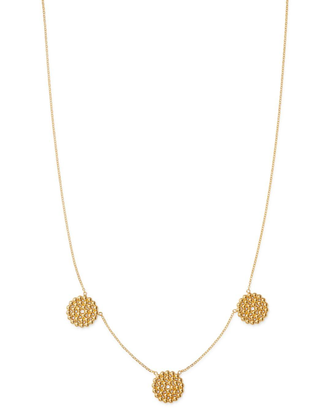a298cf6e492 Bloomingdale's Triple Beaded Circle Pendant Necklace In 14k Yellow ...