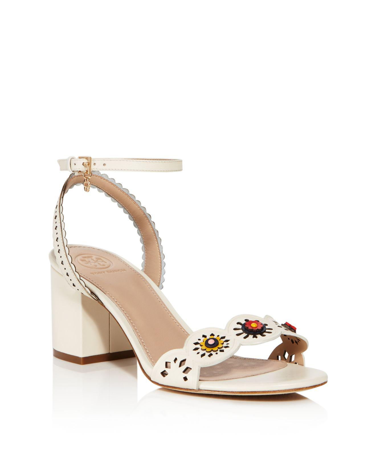 497160b2811 Tory Burch Marguerite Perforated Sandal in White - Lyst