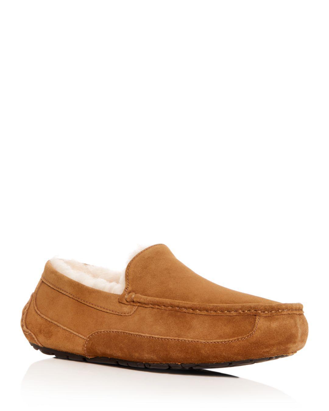 38fd8644362c Lyst - UGG Men s Ascot Suede Slippers in Brown for Men