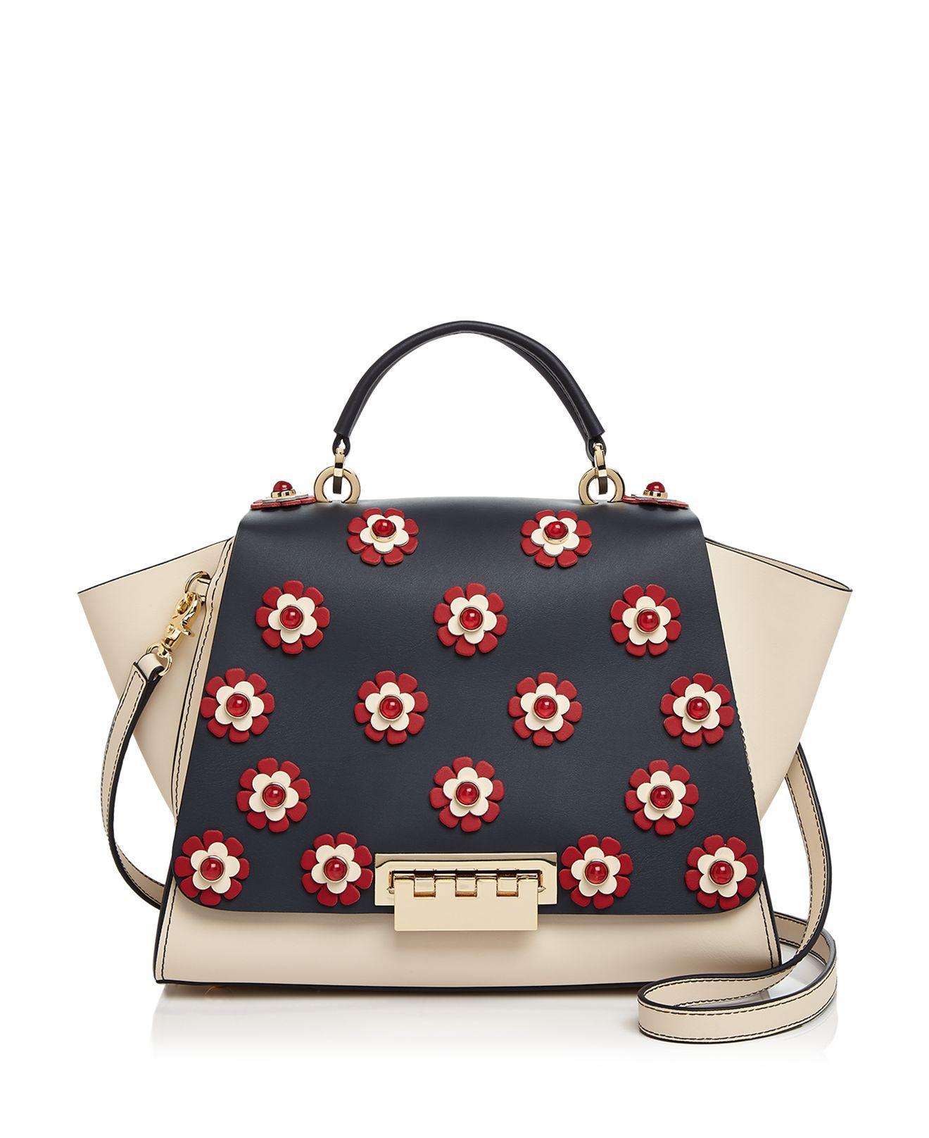 Zac Zac Posen Eartha Iconic Floral Soft Top Handle Leather