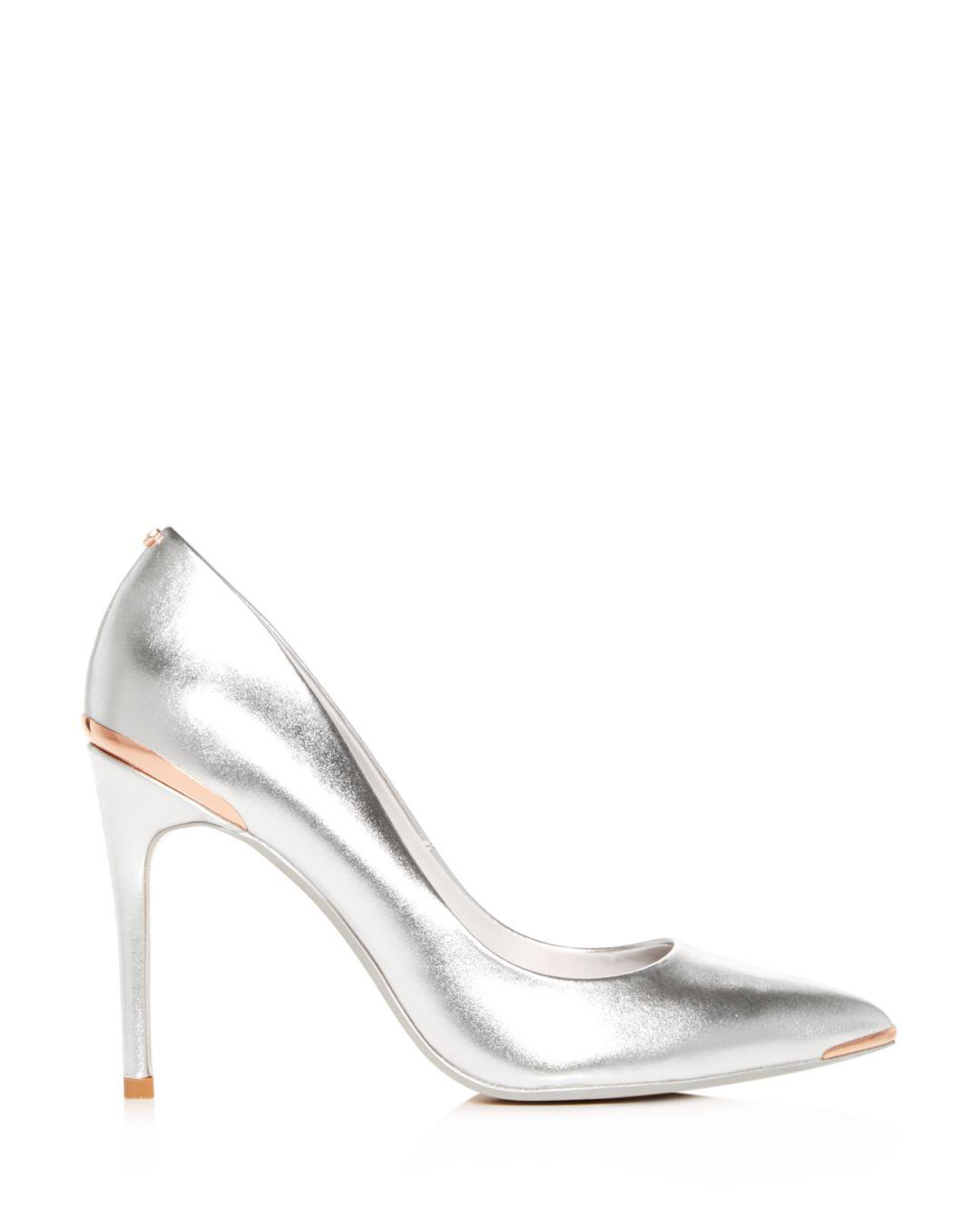 121a98e390682 Lyst - Ted Baker Women s Izibel Pointed-toe Pumps in Metallic