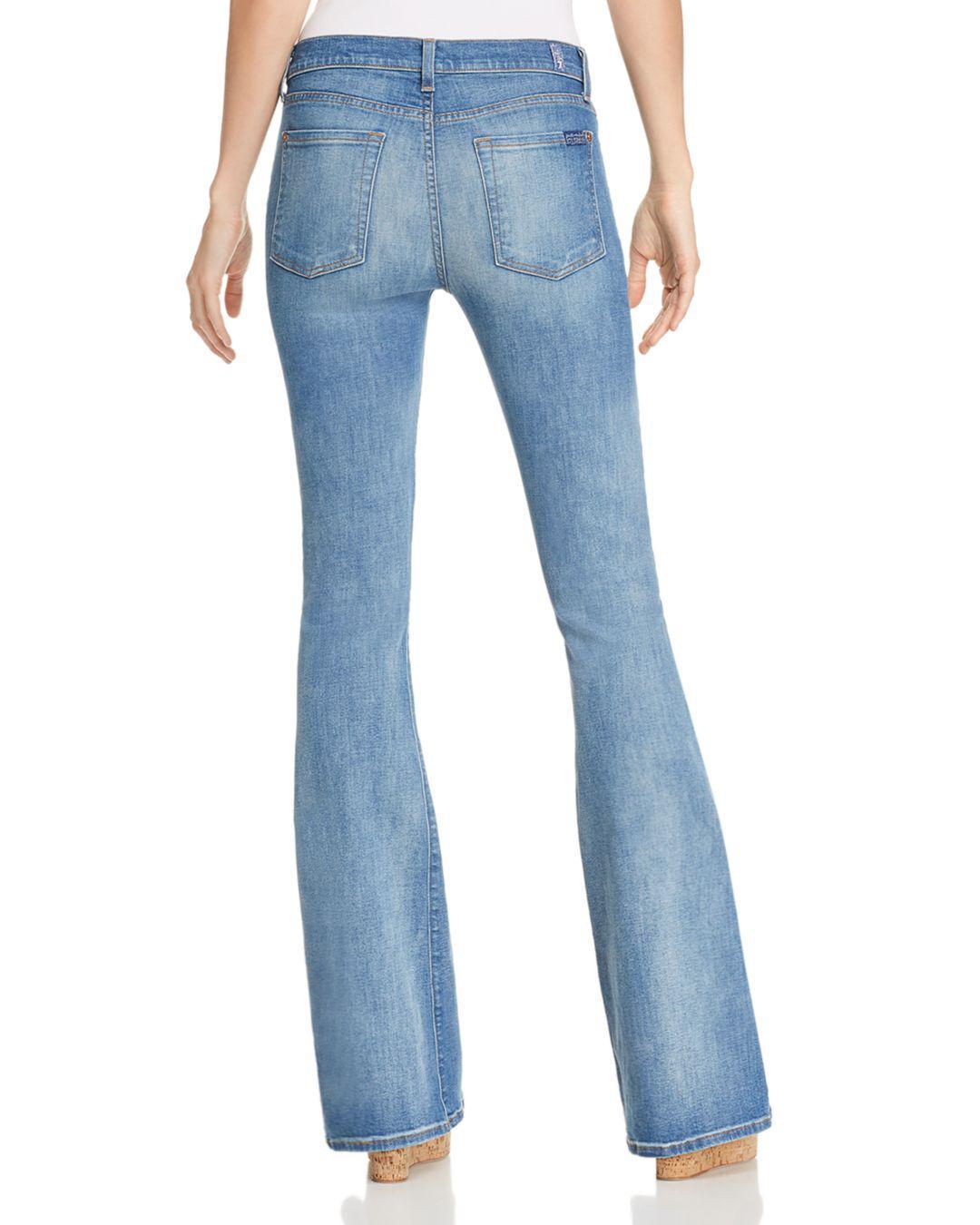 7 For All Mankind Denim Ali Flare Jeans In Heritage Artwalk in Blue