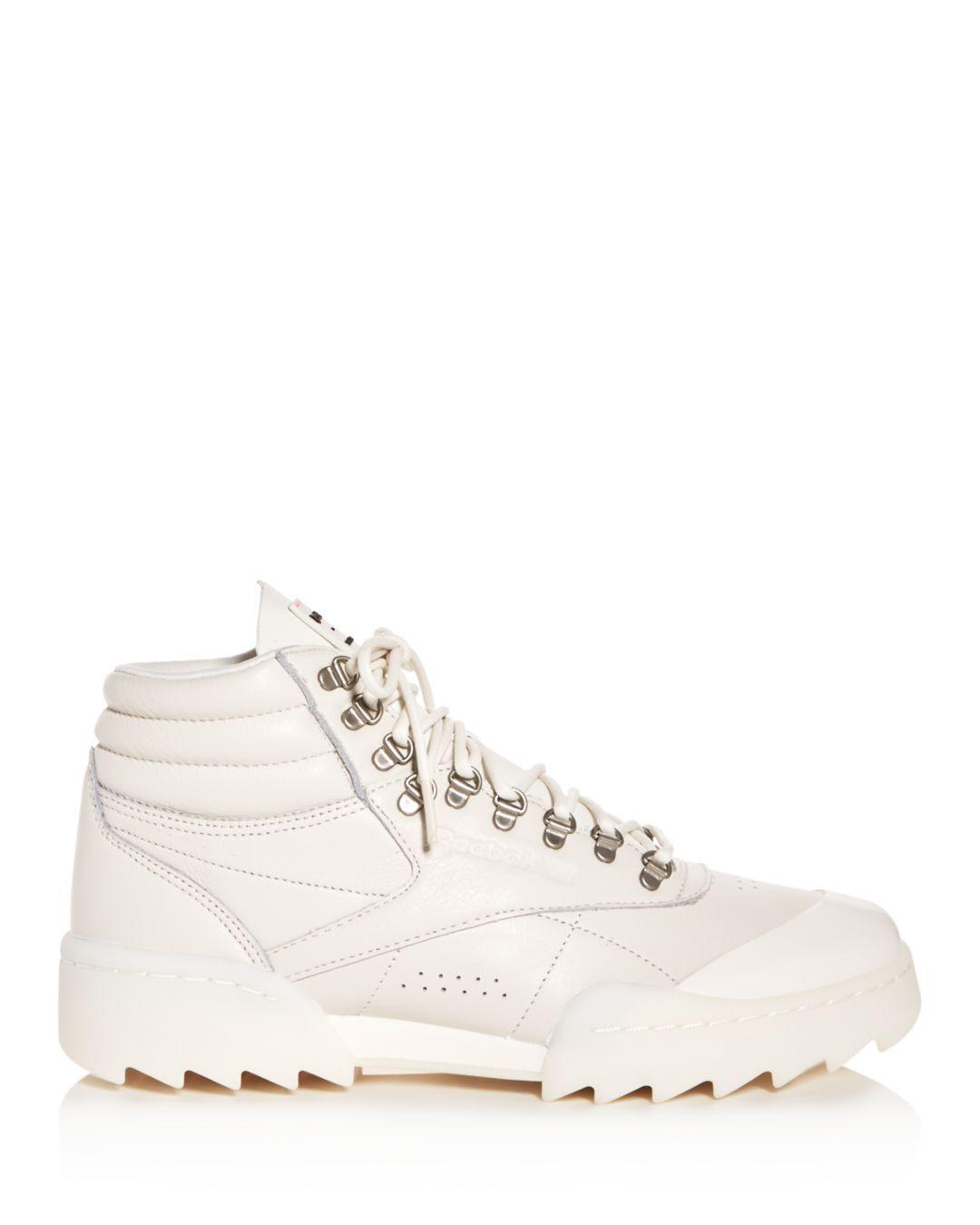 5e00686a31edc Lyst - Reebok Women s Freestyle Hi Nova Ripple X Gigi Hadid High-top  Sneakers