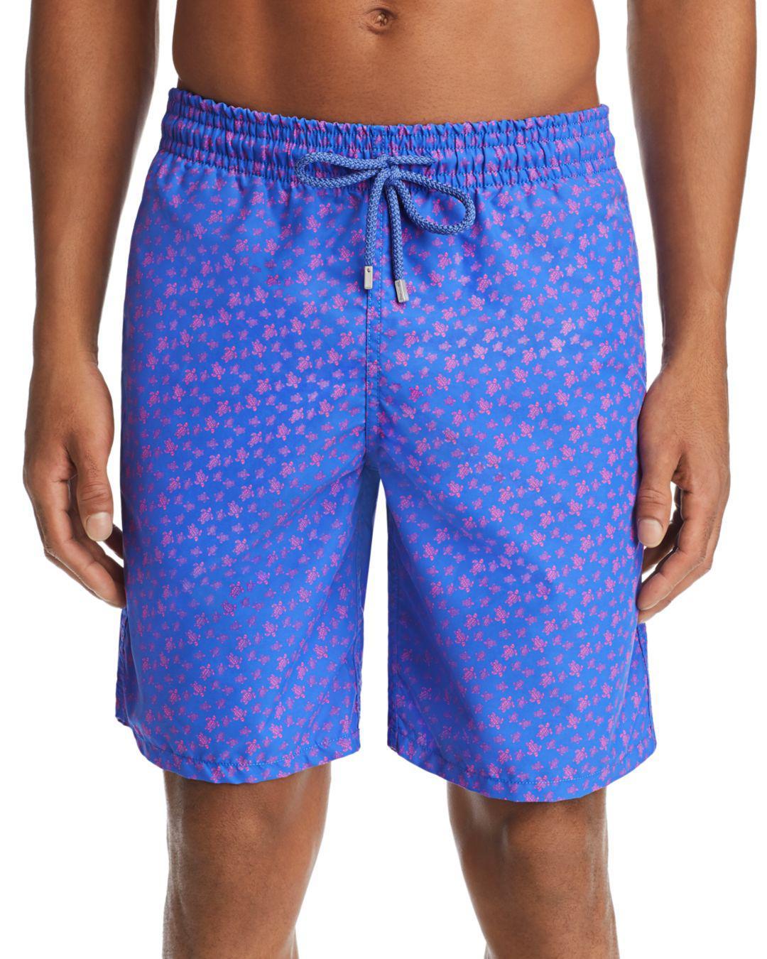 2b8b08e380 Lyst - Vilebrequin Okoa Oko Turtle-print Swim Trunks in Blue for Men