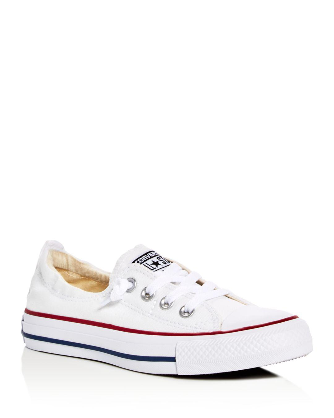 edd3a656151fc9 Lyst - Converse White Canvas  dainty  Trainers in White