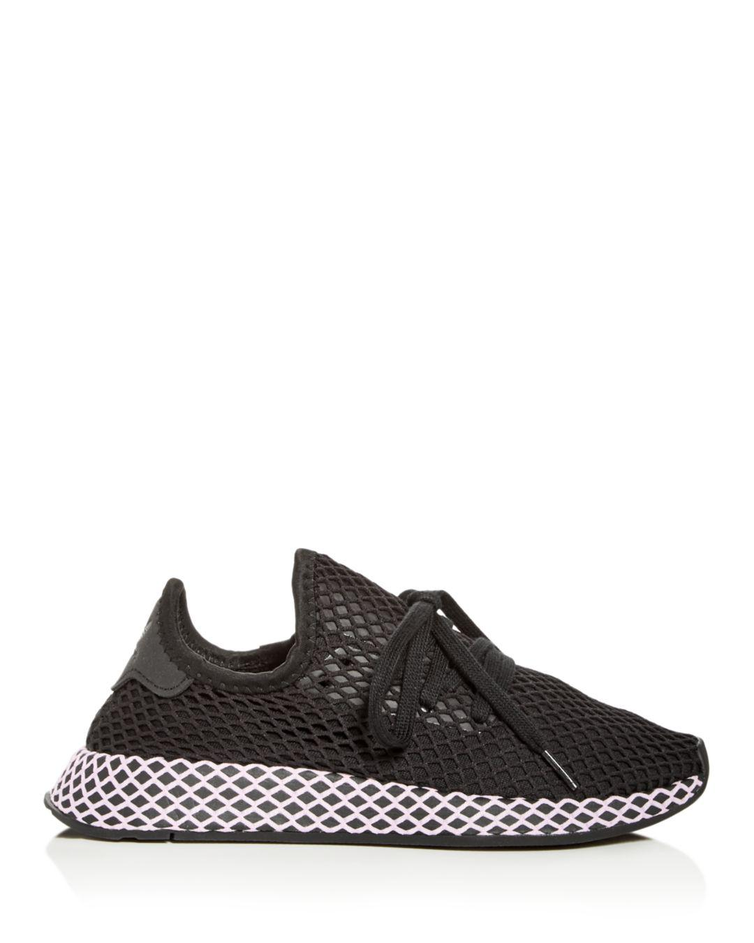 51b95d80e3adf Lyst - adidas Women s Deerupt Net Lace Up Sneakers in Black