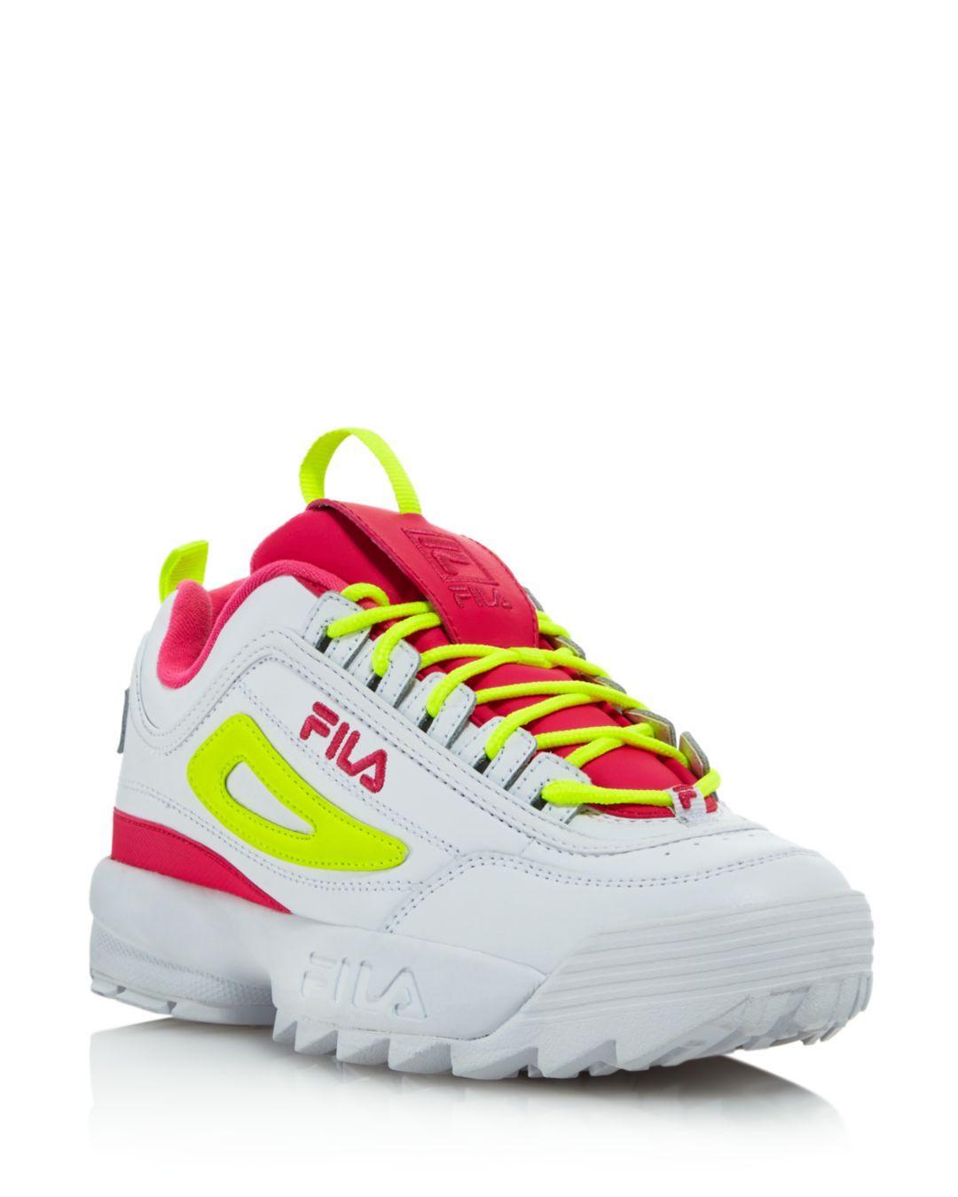 93e8e97e8570 Lyst - Fila Women s Disruptor 2 Premium Lace-up Sneakers in Pink