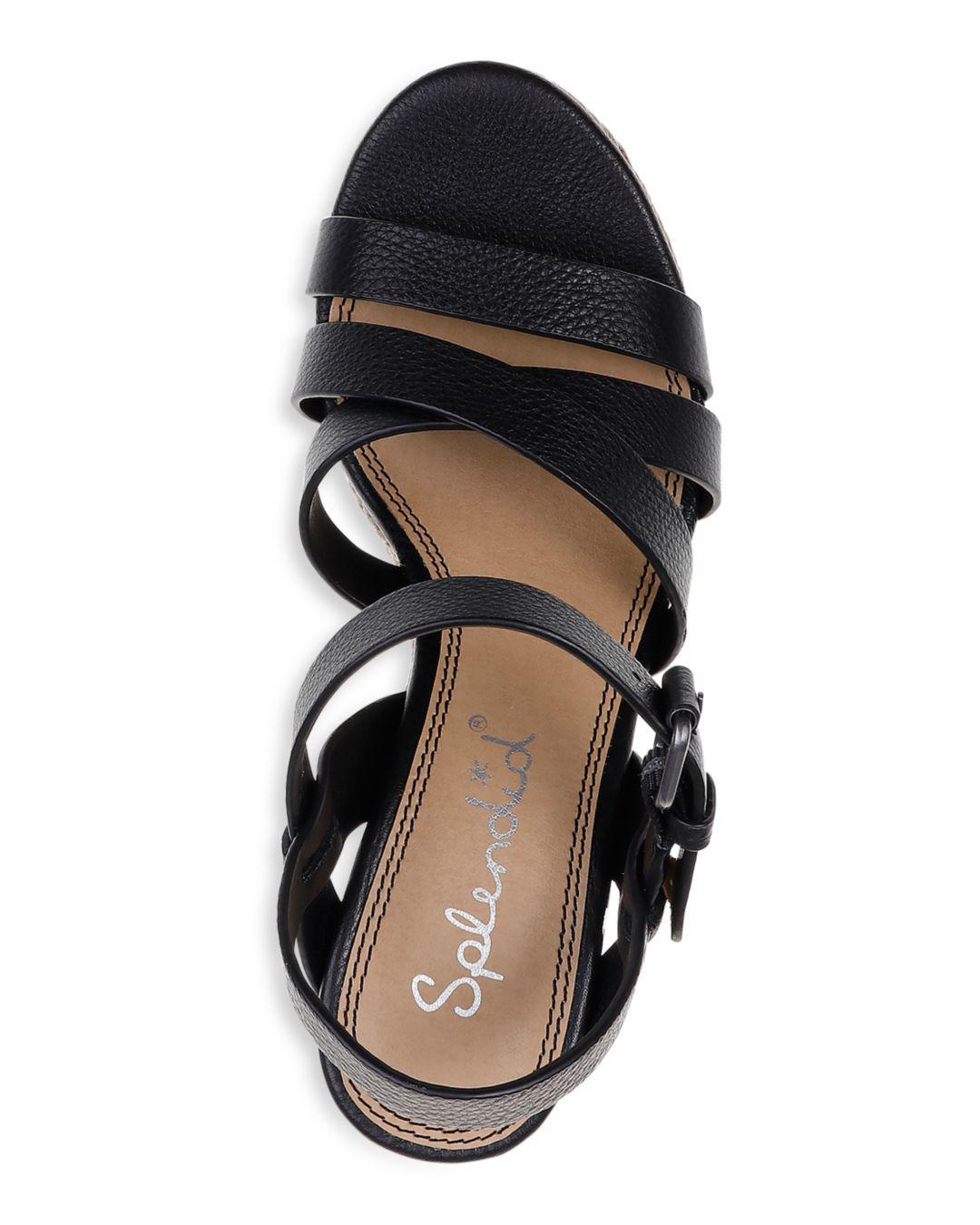 8880261005f Lyst - Splendid Women's Billie Leather Platform Wedge Espadrille ...