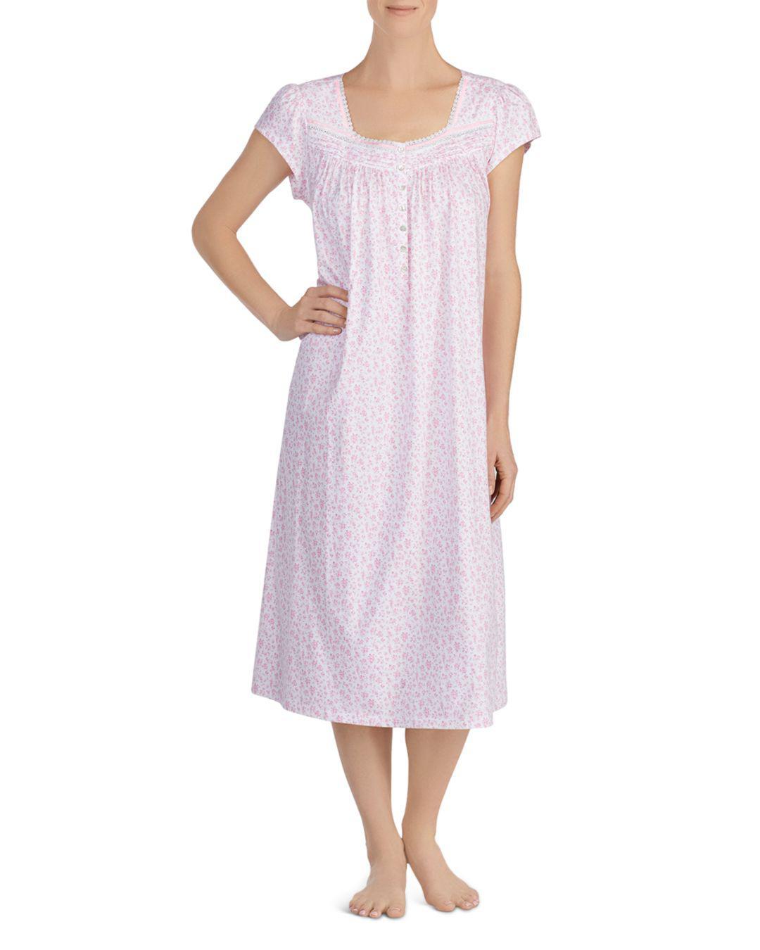 a7f5f0c021 Lyst - Eileen West Cap Sleeve Ballet Night Gown