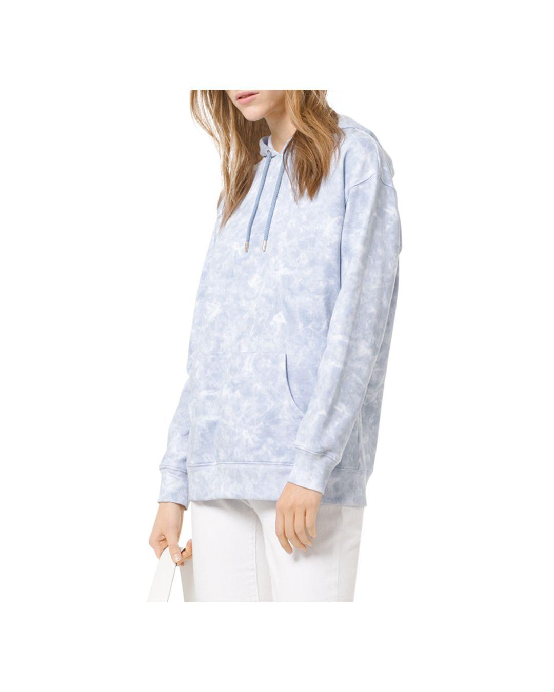 2bcd8da180e Lyst - MICHAEL Michael Kors Tie-dyed Pullover Hoodie in Blue