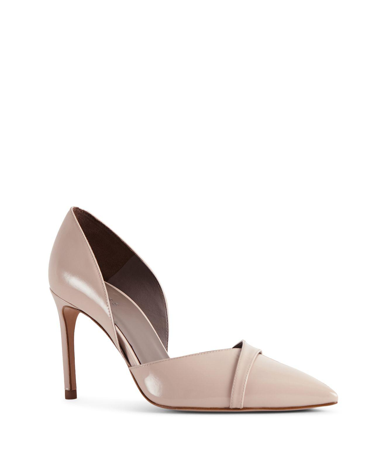 Reiss Women's Georgia Patent Leather Crossover High Heel Pumps EcAifpRE
