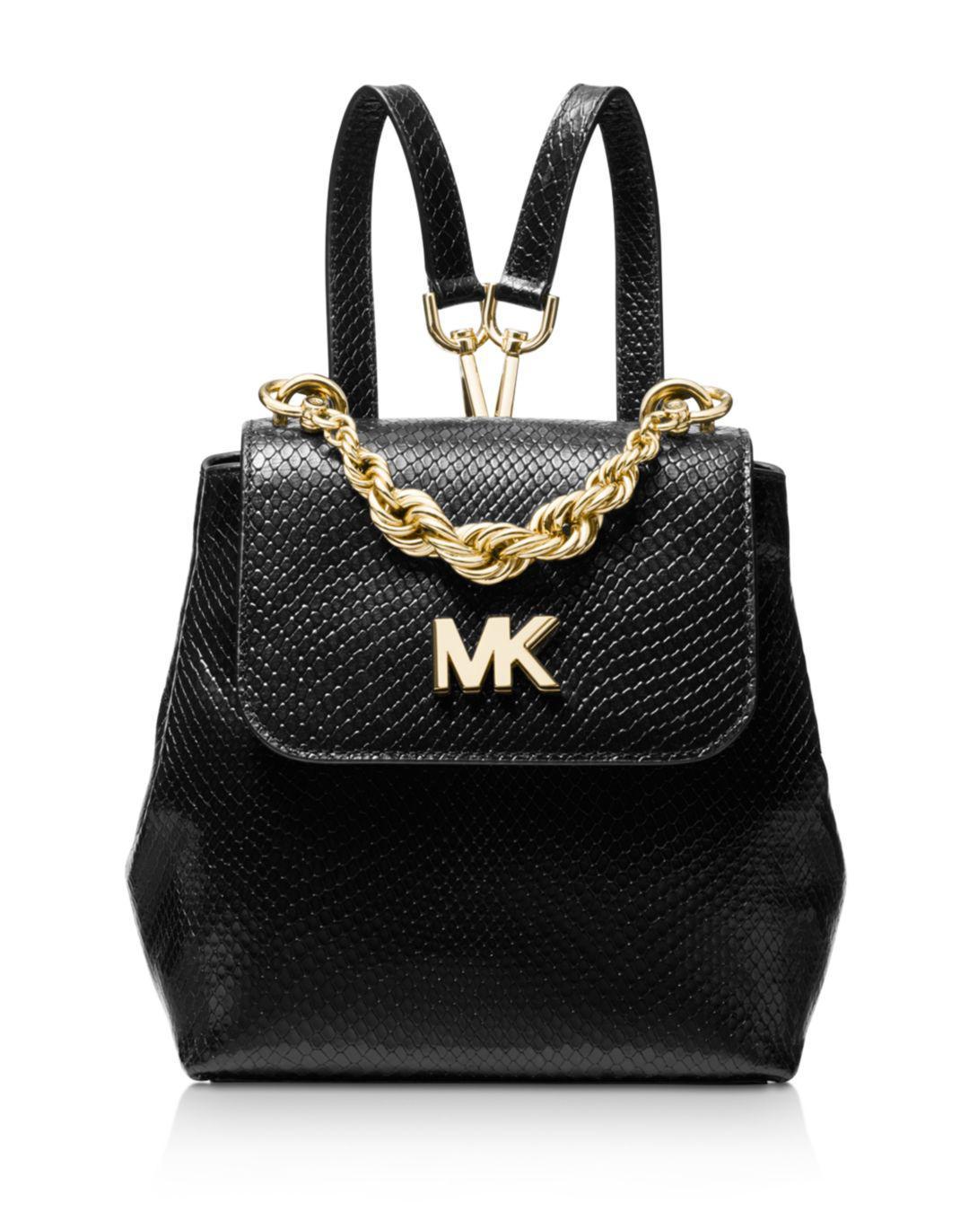 83f1255172 ... italy michael michael kors. womens black mott mini twist chain  messenger backpack 0a099 69558