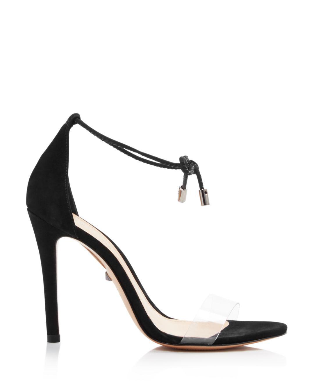 68cbf1b14d0 Black Women's Josseana Open Toe Nubuck High - Heel Sandals