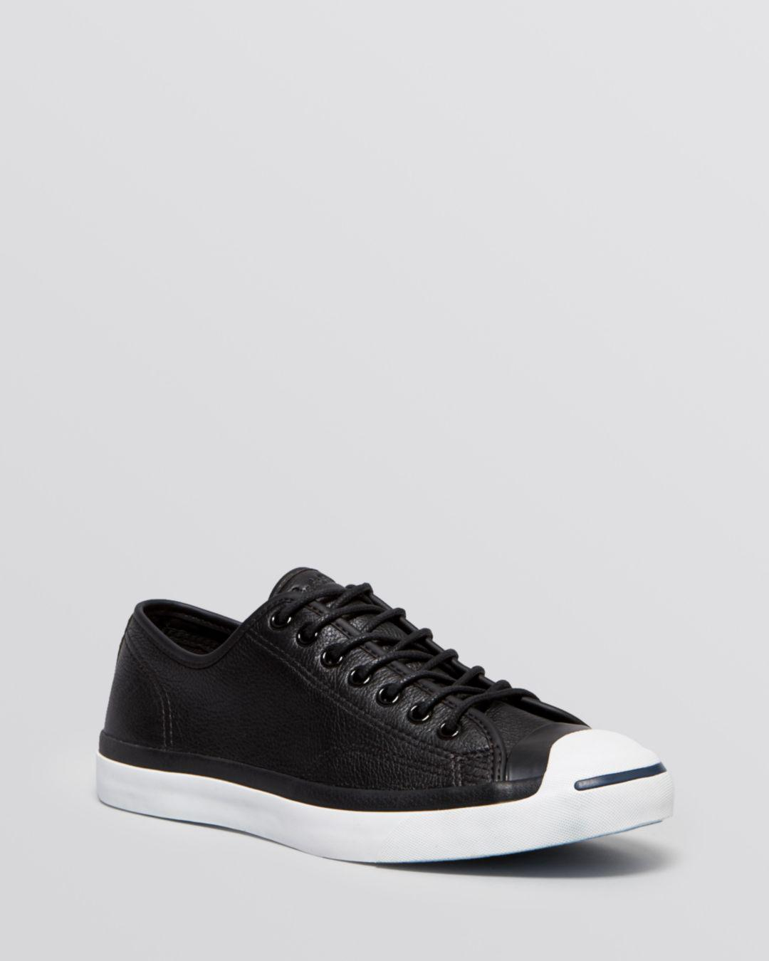 b6a8a044f599 Converse Men s Jack Purcell Jack Lace Up Sneakers in Black for Men ...