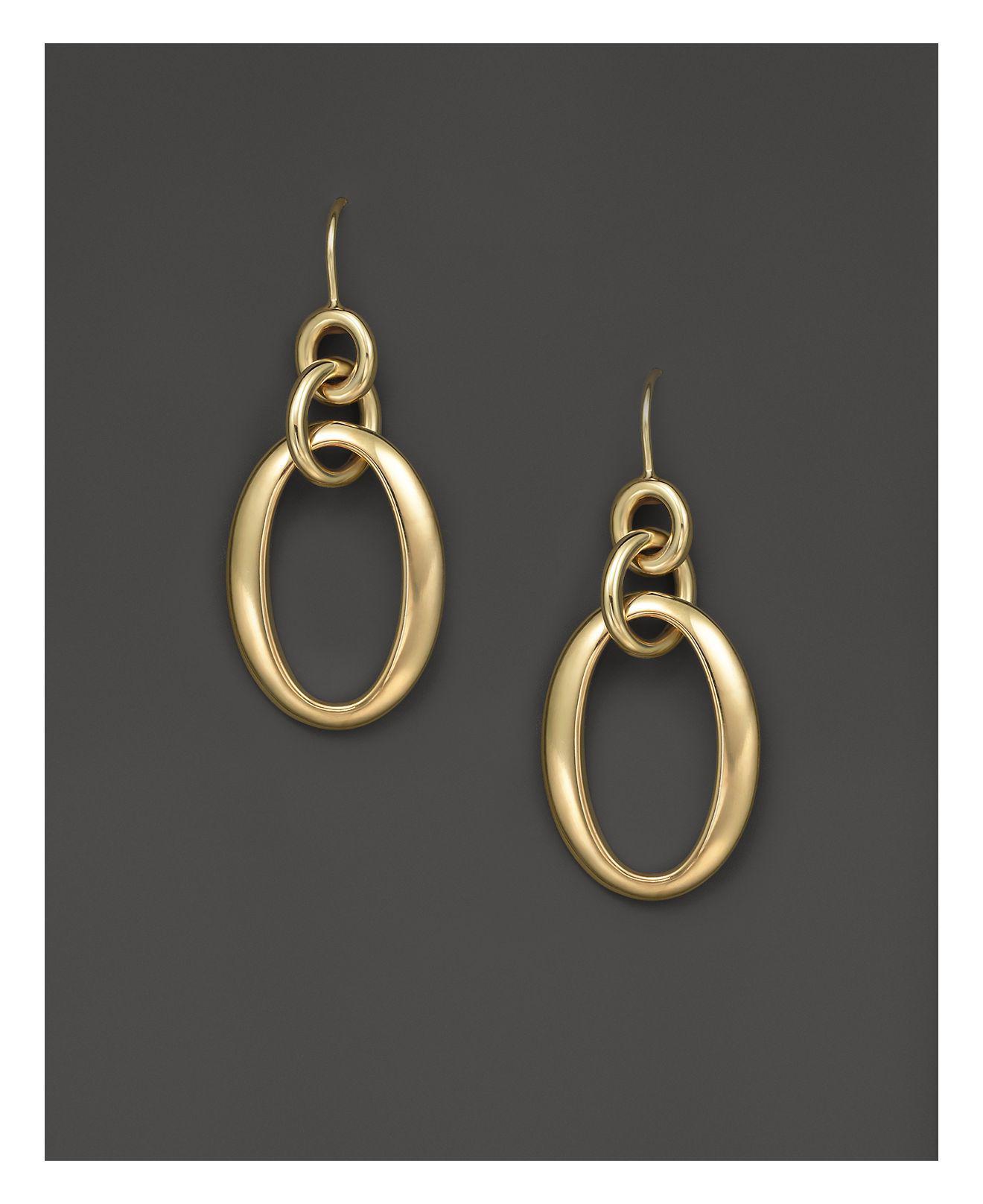 Ippolita 18k Glamazon Short Oval Link Earrings elwQZcg
