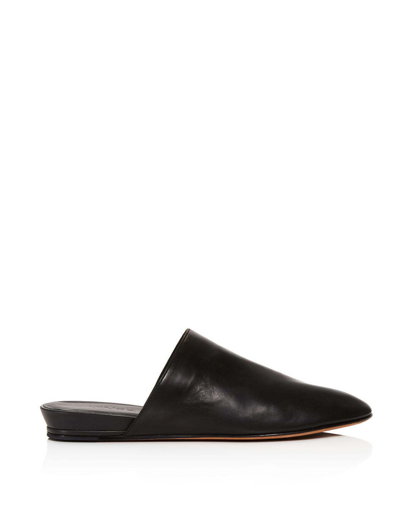 Vince Oren Leather Mules In Black Lyst