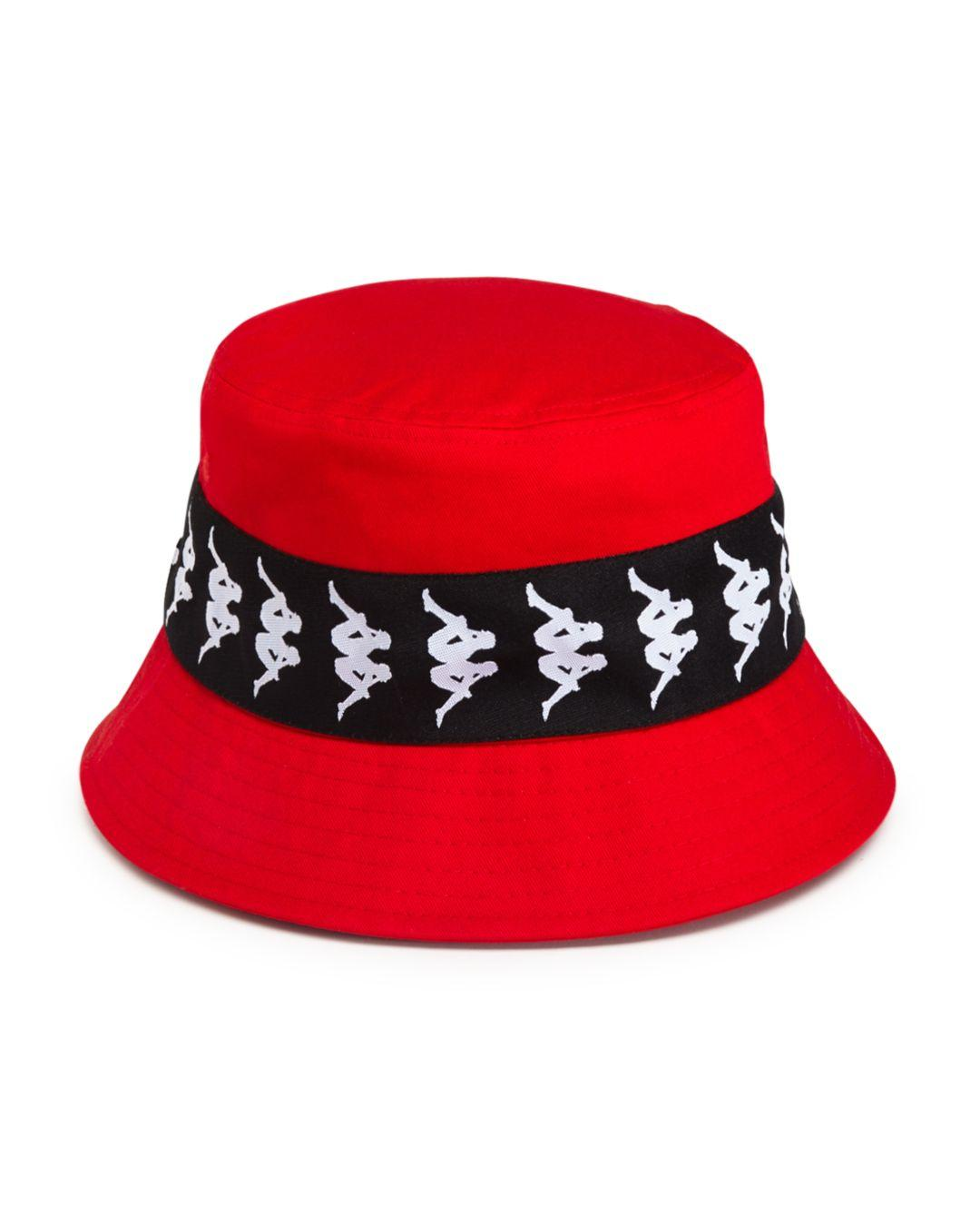 40145401cc Men's Red 222 Banda Bzahlab Bucket Hat