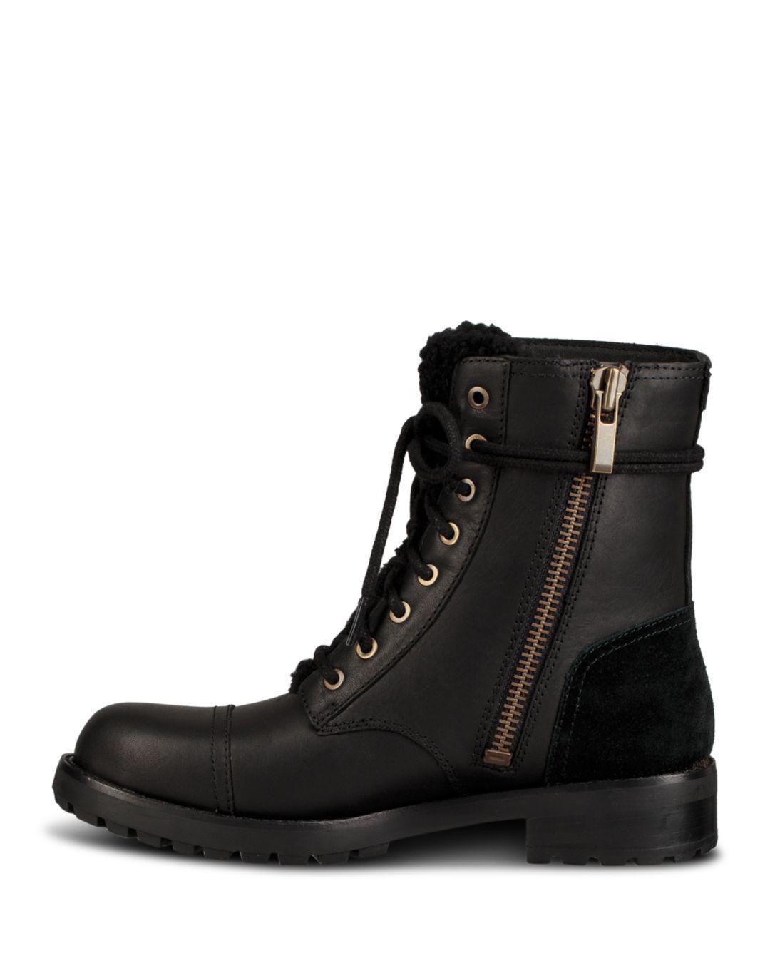 289b0ce95f9 Black Women's Kilmer Round Toe Leather & Sheepskin Boots
