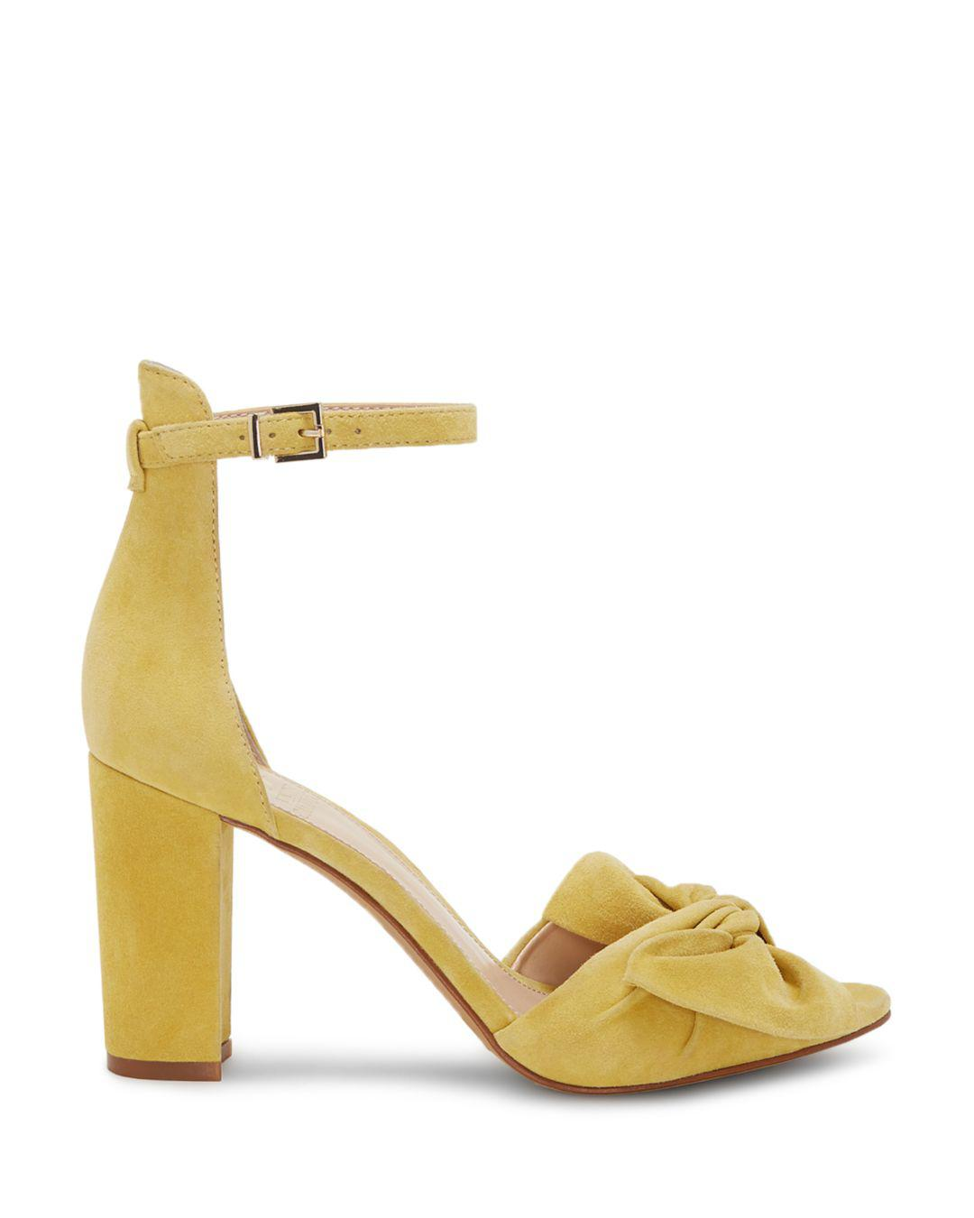 4080750f5390 Lyst - Vince Camuto Carrelen Block Heel Sandal (women) in Yellow