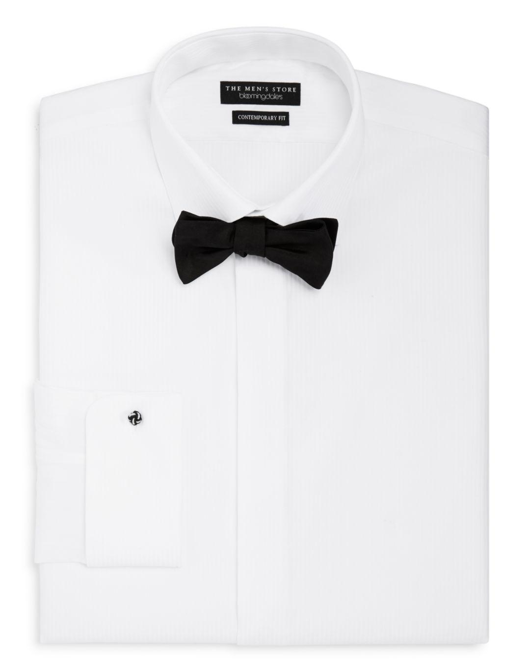 Lyst Bloomingdale S Regular Fit Formal Shirt With Removable Stud