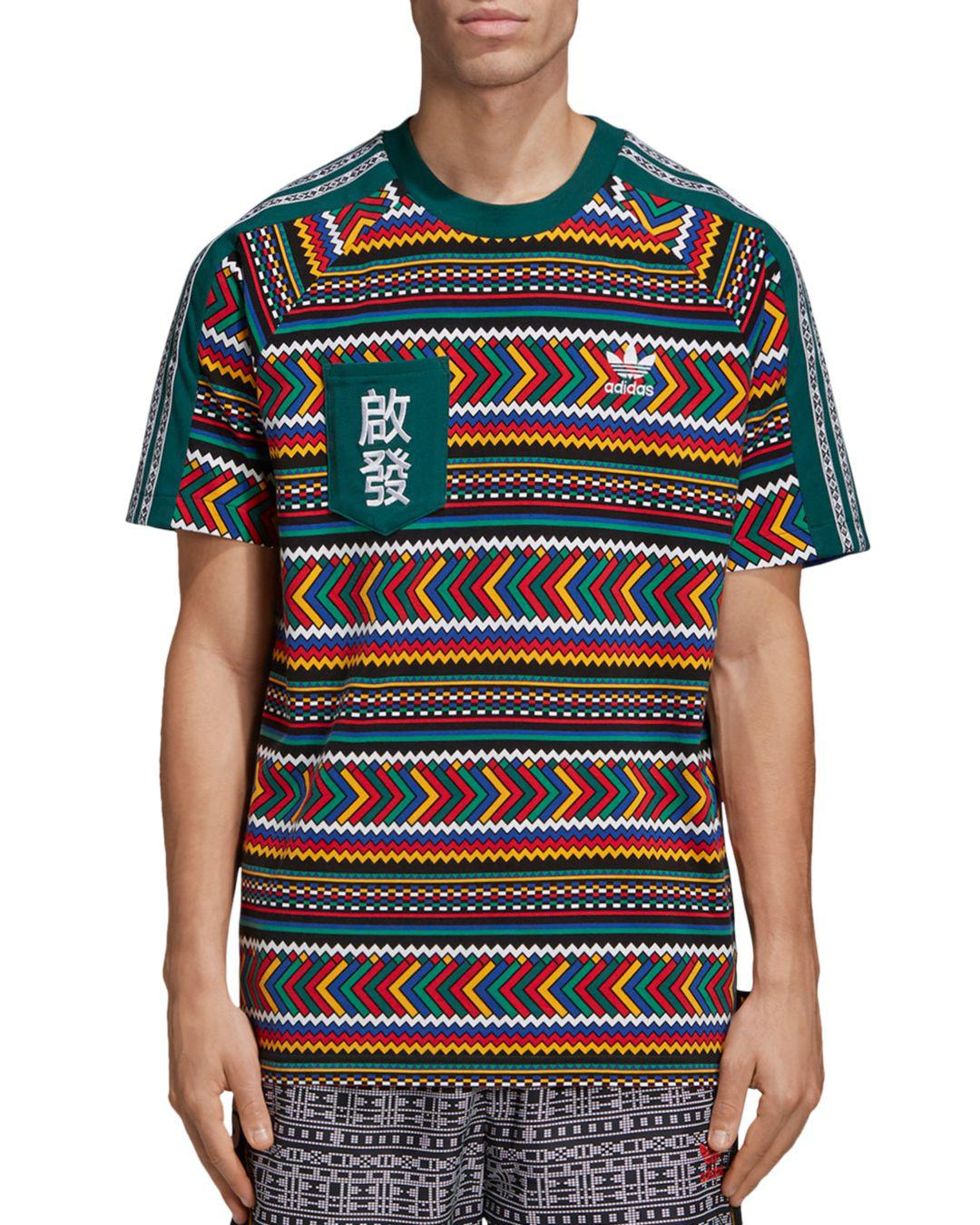 43f4aa8dd adidas Originals. Men s X Pharrell Williams Solar Hu Geometric-print Pocket  Tee