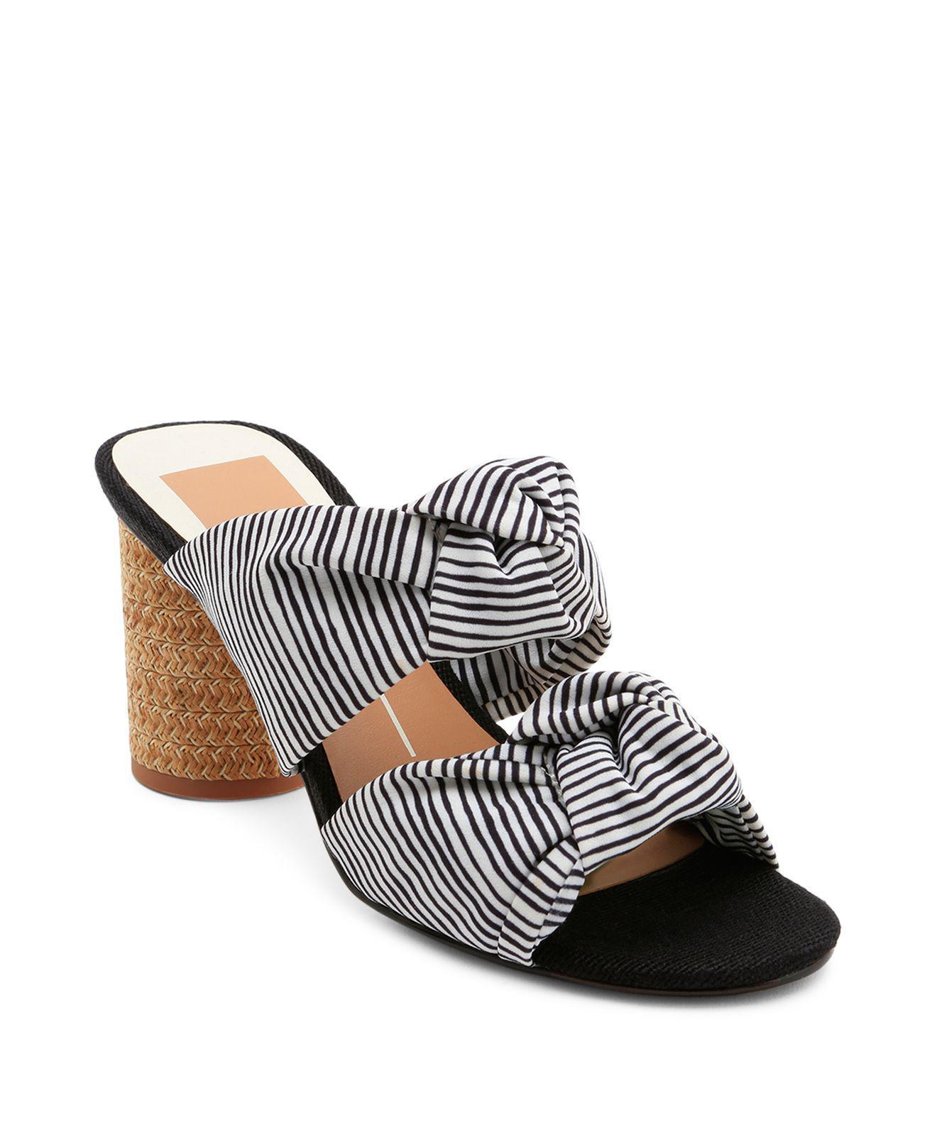 Dolce Vita Jene Denim Double Knot Block Heel Sandals E20Qs