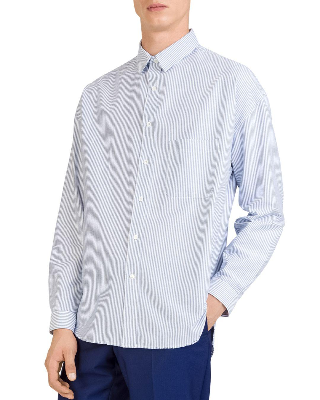 133ead30715 Lyst - The Kooples Striped Regular Fit Oxford Button-down Shirt in ...