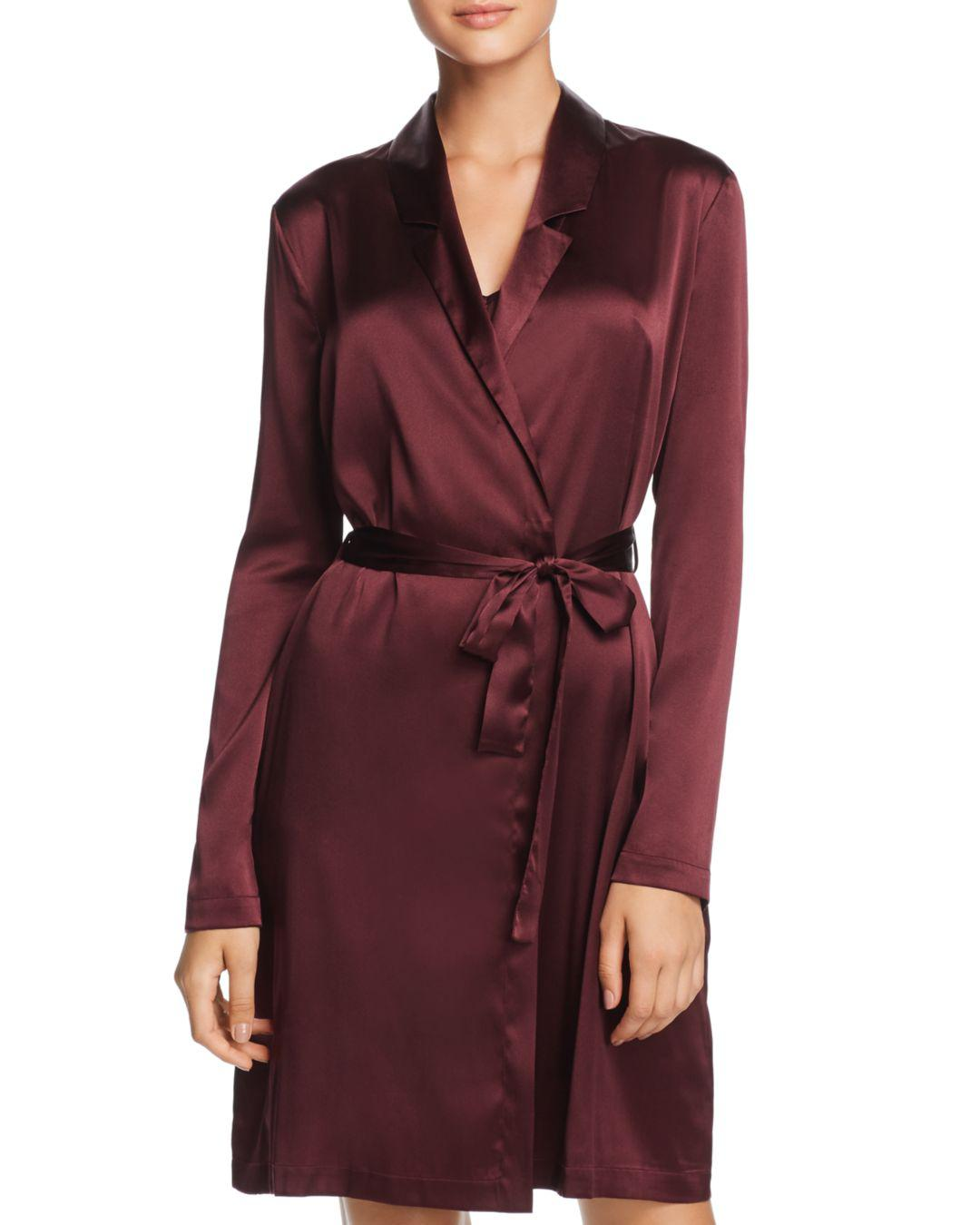 3bf2317497 La Perla Silk Reward Short Robe in Purple - Lyst
