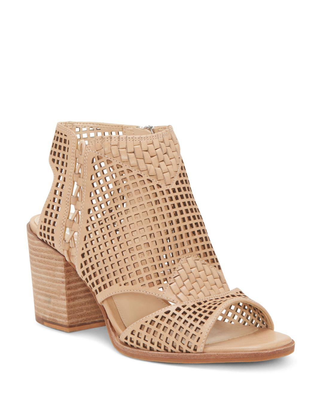 95160655b2e Lyst - Vince Camuto Women s Kampbell Mesh Block Heel Sandals in ...