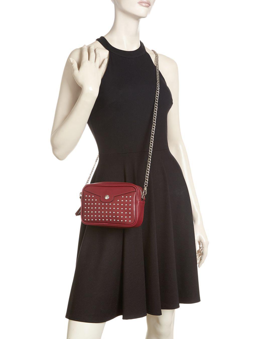 Mademoiselle Rock Studded Leather Crossbody