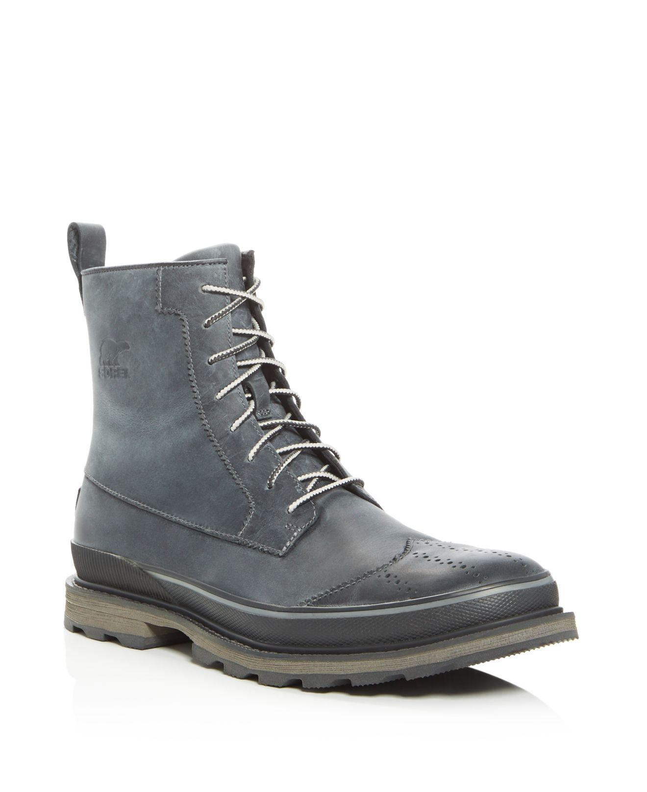 Sorel Leather Madson Wingtip Boots in