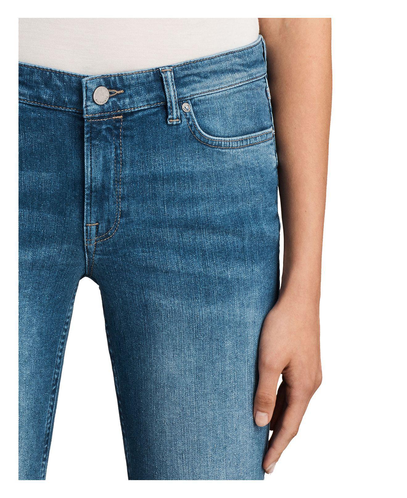 AllSaints Denim Mast Twisted Jeans In Indigo Blue