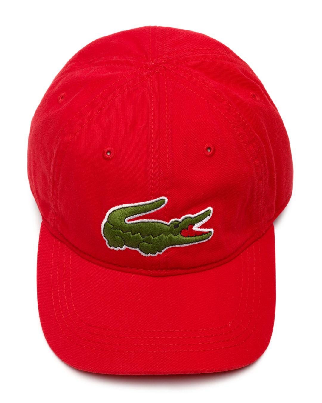 b2e2588f Lyst - Lacoste Big Croc Hat in Red for Men